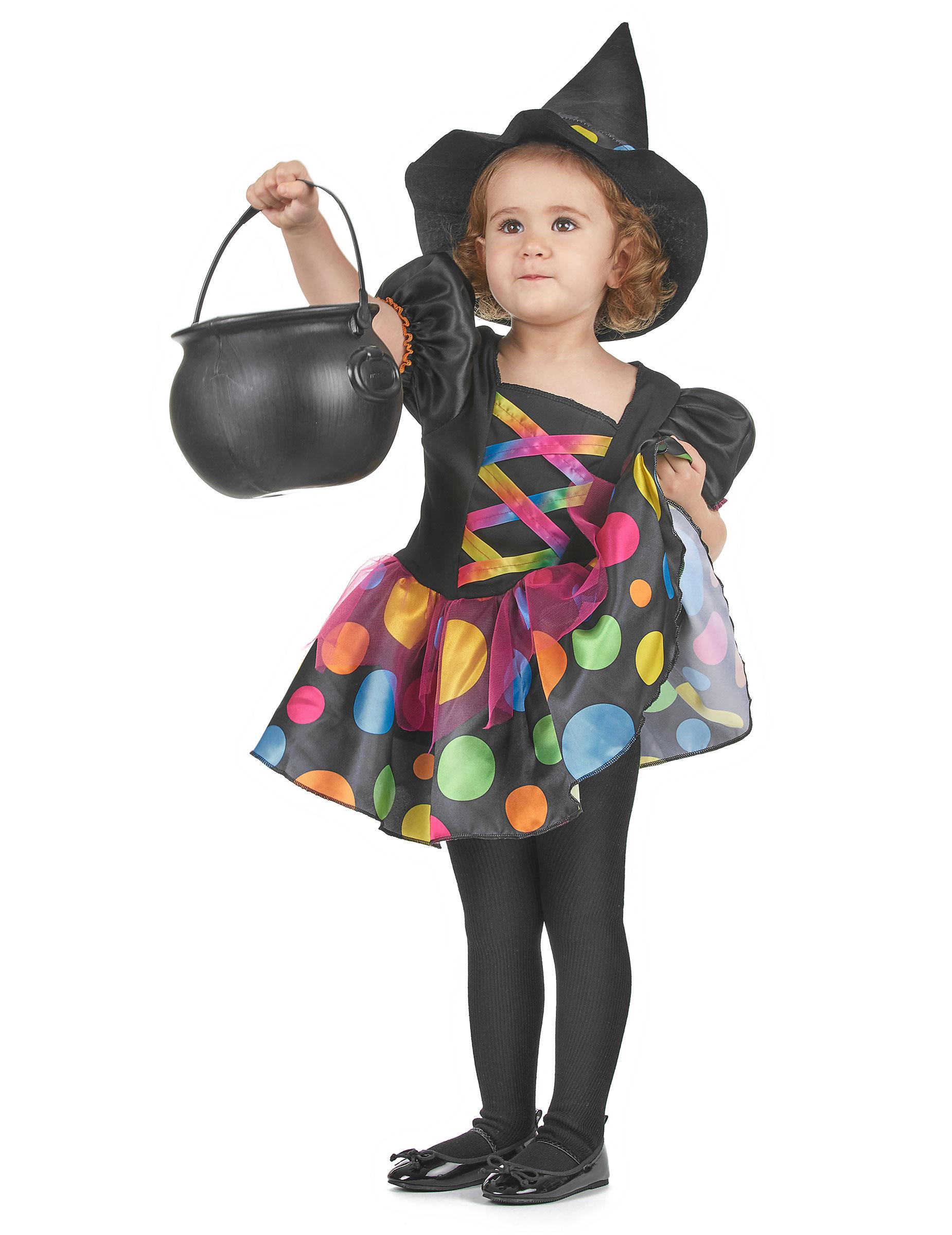 Costume da strega colorata bambina  Costumi bambini 0d2ae625d742