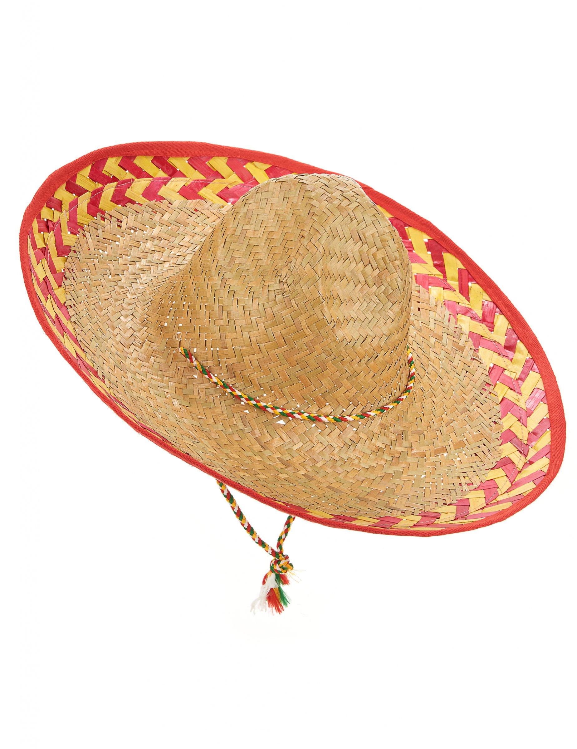 Cappello messicano adulto in paglia  Cappelli a82d60d88b7e
