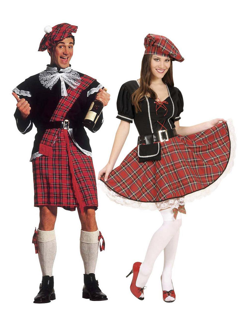 Costume di coppia scozzese per adulto