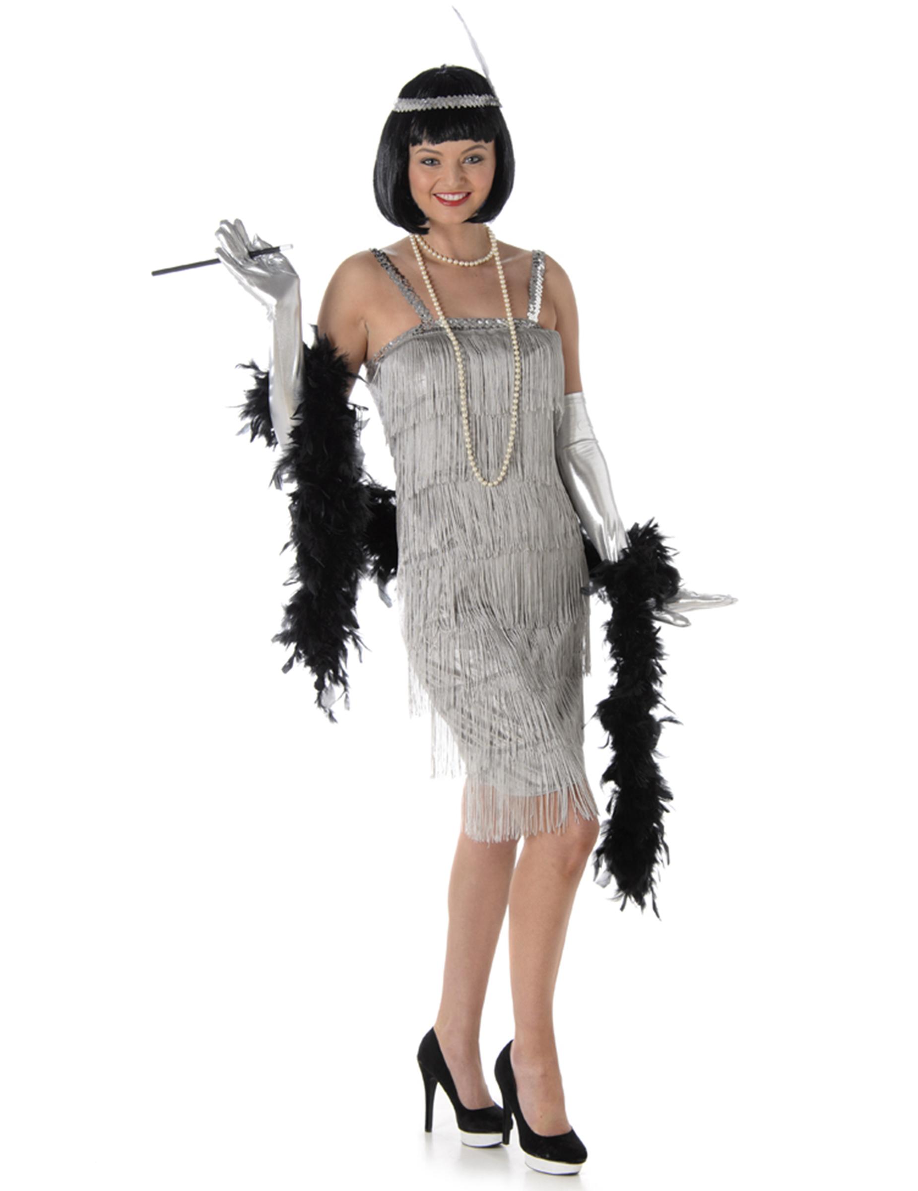 Costume per donna anni  20 argentato  Costumi adulti c3792eeb4ae