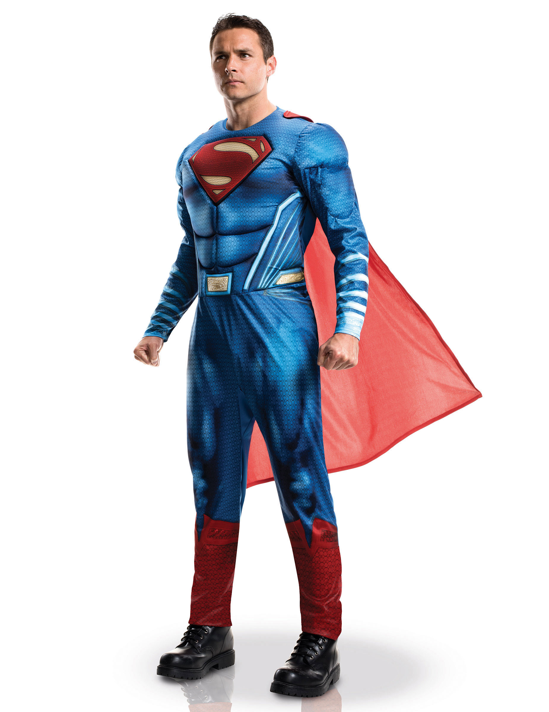 Costume Lusso Da Superman Per Adulto Costumi Adultie Vestiti Di