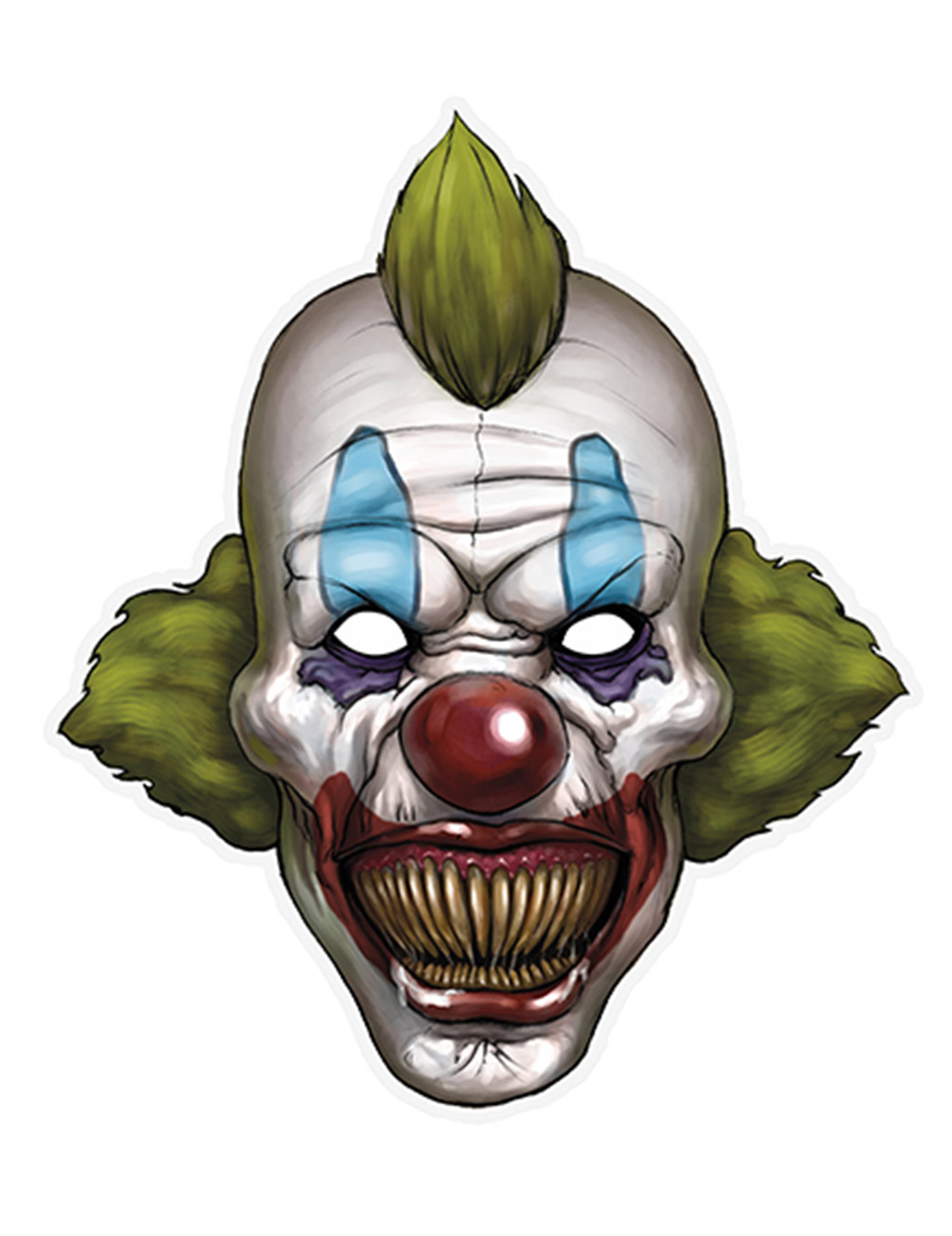 Maschera Da Clown Di Carta Halloween