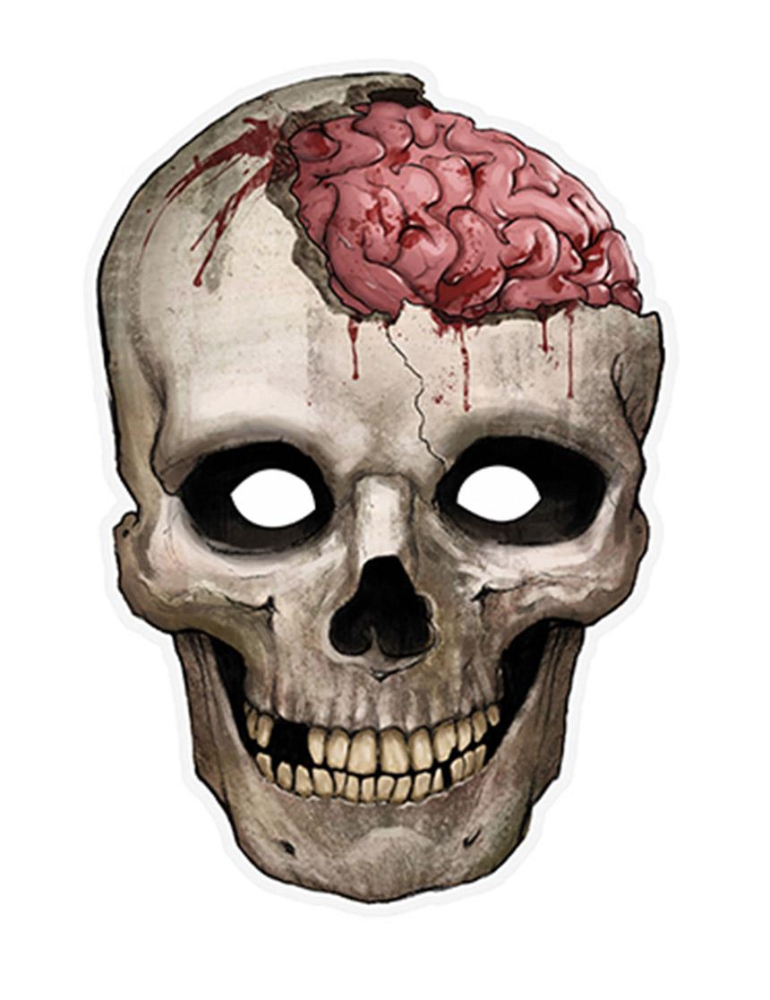 Maschera da teschio sanguinante in carta
