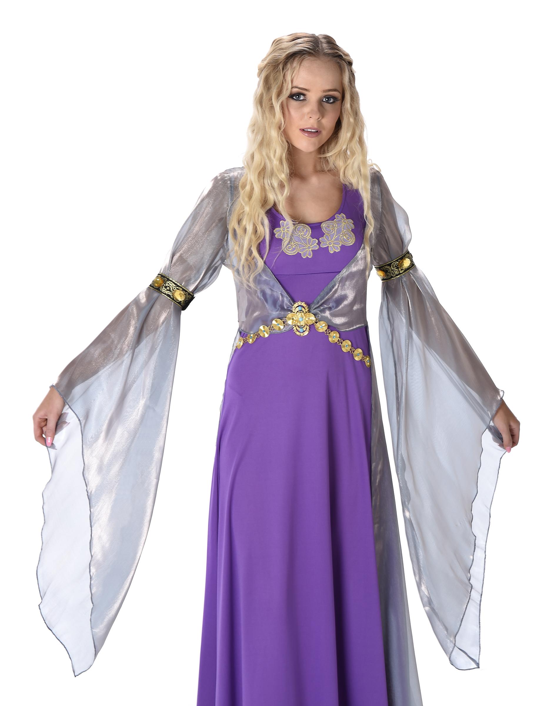 Costume principessa medievale da donna costumi adulti e vestiti di carnevale online vegaoo - Costume da bagno velluto ...