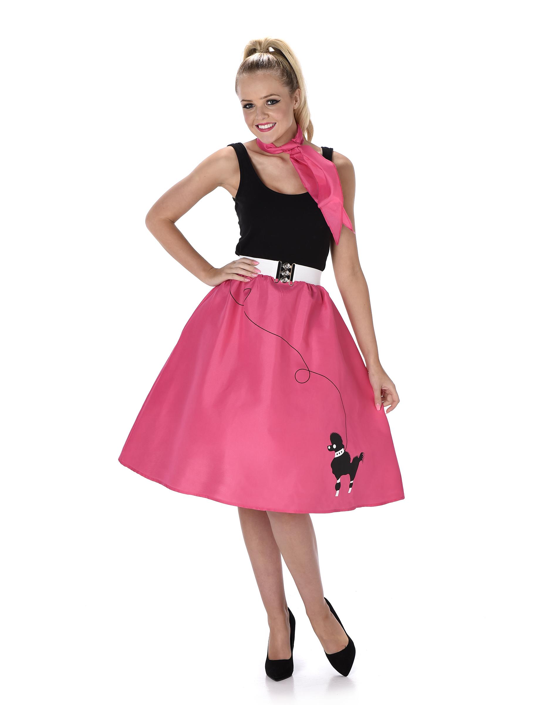 Costume anni 50 39 fucsia donna costumi adulti e vestiti di for Accessori moda anni 50