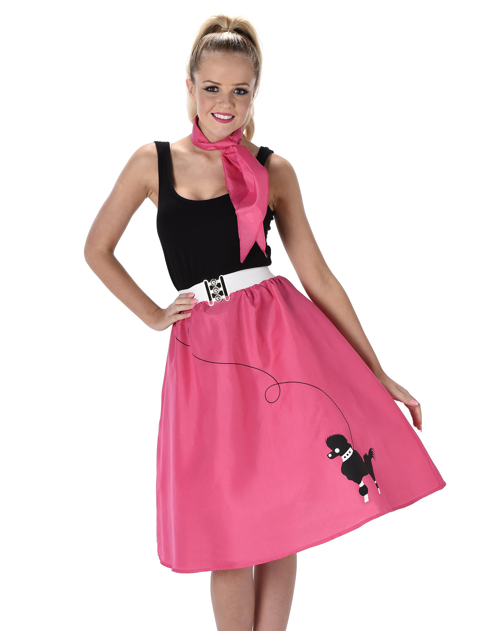 Costume anni 50 fucsia donna  Costumi adulti f81021e92ba