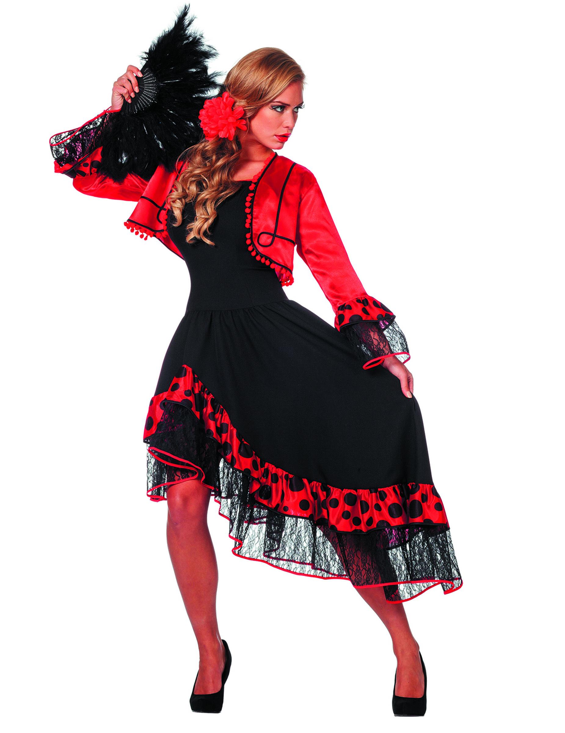 e7ab73c545e94 Costume ballerina spagnola da donna lusso  Costumi adulti
