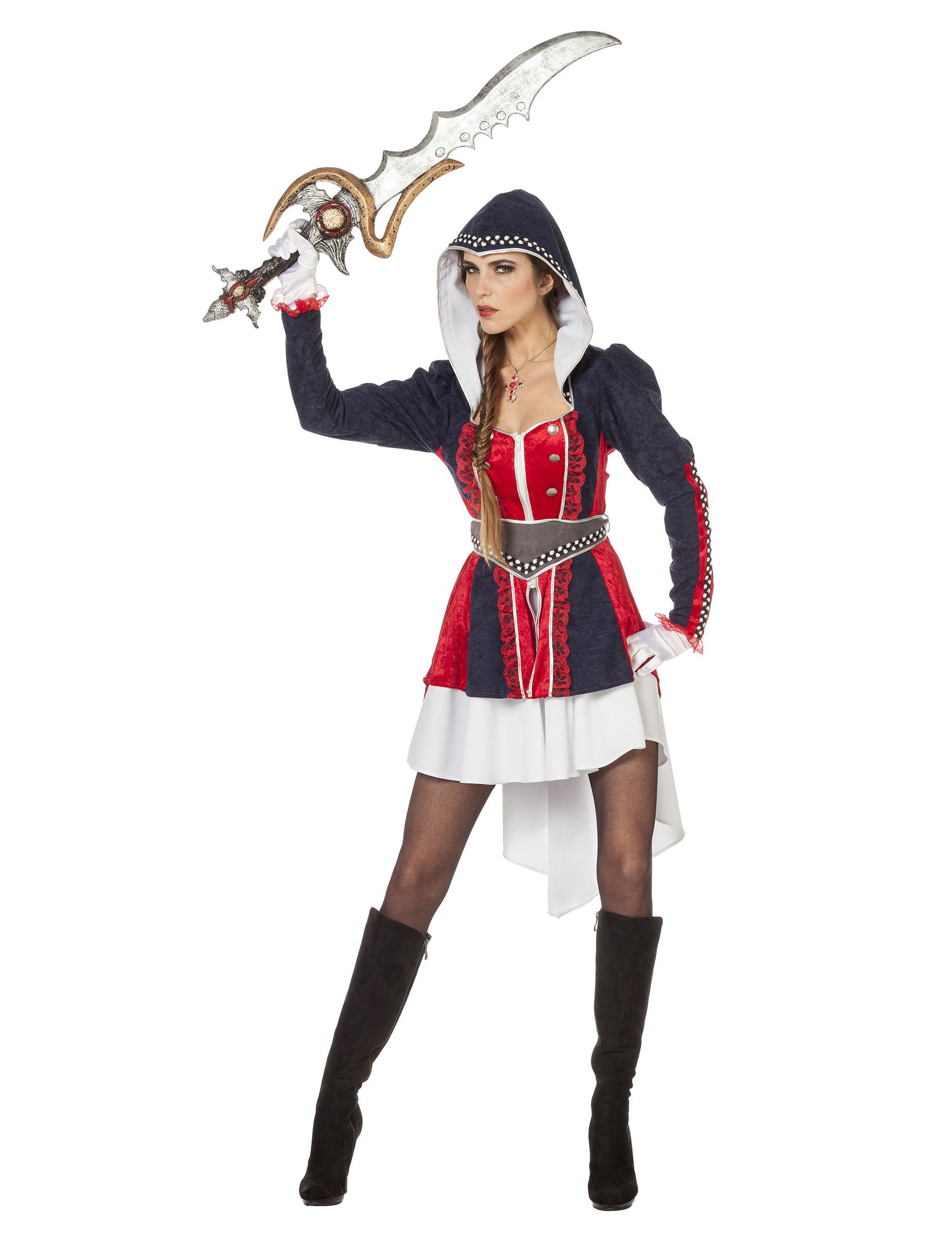 HARLEY Quinn Costume Calze Supereroe Donna Costume Costume Adulto Ac