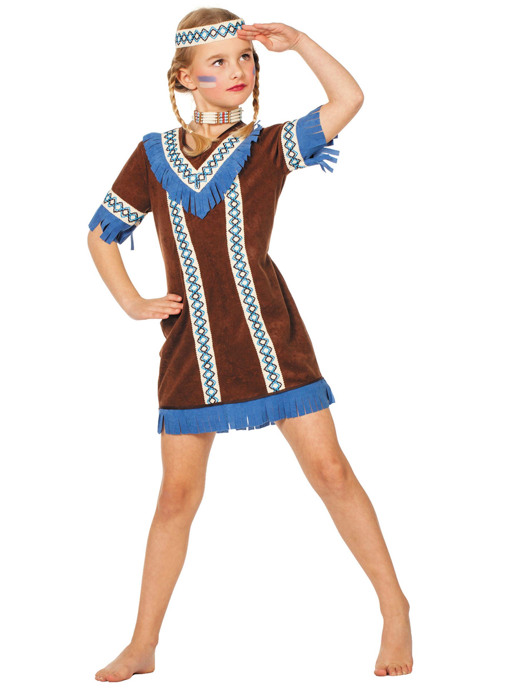Costume da Indiana d\u0027America bambina