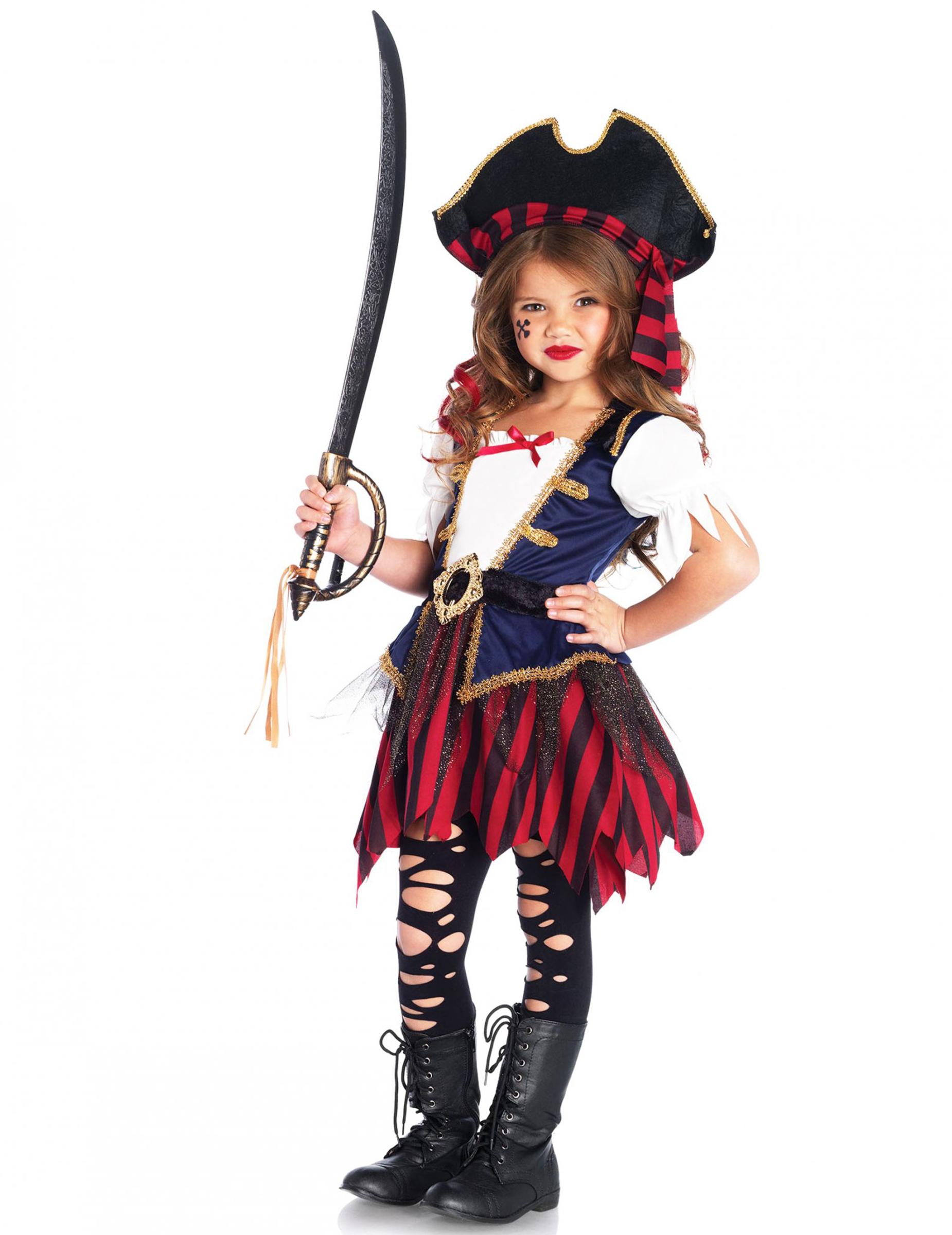 Favorito Costume tesoro da pirata da bambina: Costumi bambini,e vestiti di  GF37