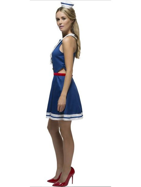 Costume marinaia sexy con mini cappello donna  Costumi adulti 3b8eeeef459e
