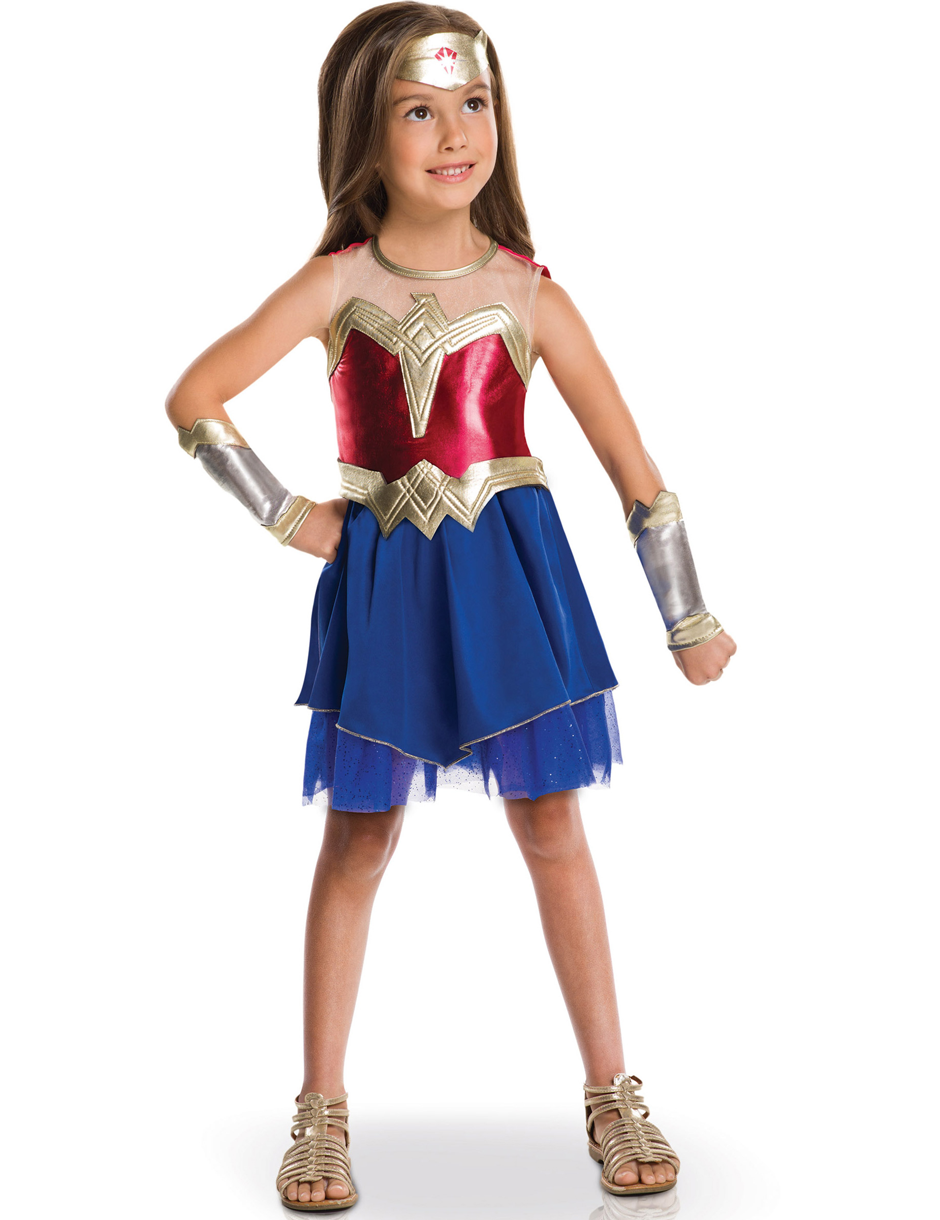 costume da wonder woman per bambina costumi bambini e vestiti di carnevale online vegaoo. Black Bedroom Furniture Sets. Home Design Ideas