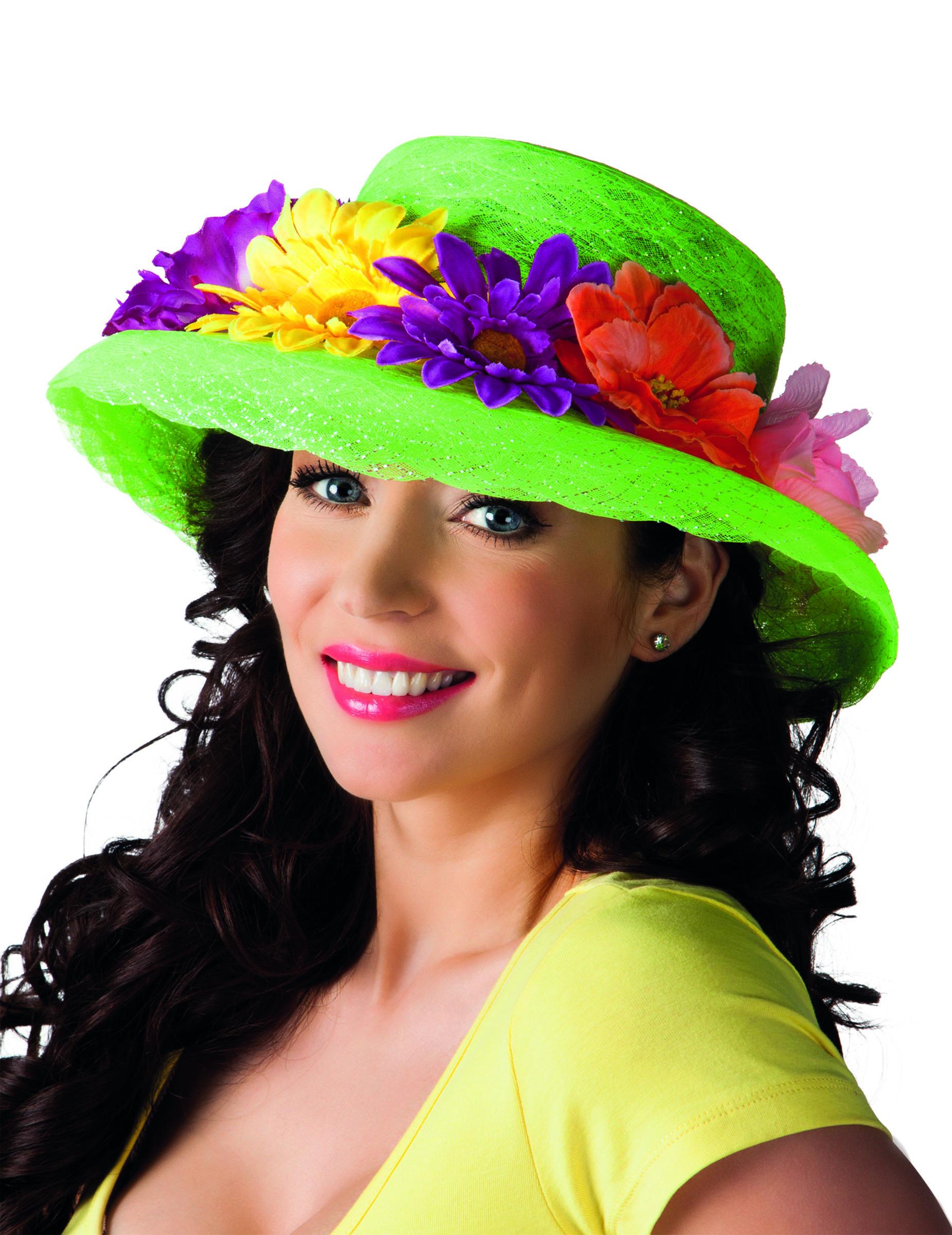 Cappello hawaiano con fiori  Cappelli cf58b18a8798