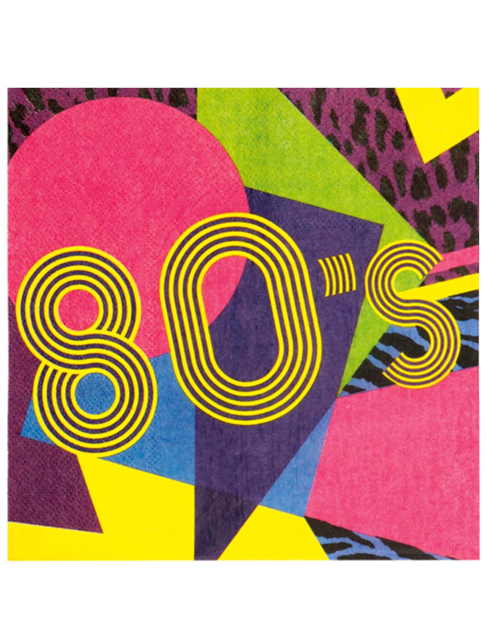 12 tovaglioli di carta anni 80 39 party addobbi e vestiti di carnevale online vegaoo. Black Bedroom Furniture Sets. Home Design Ideas