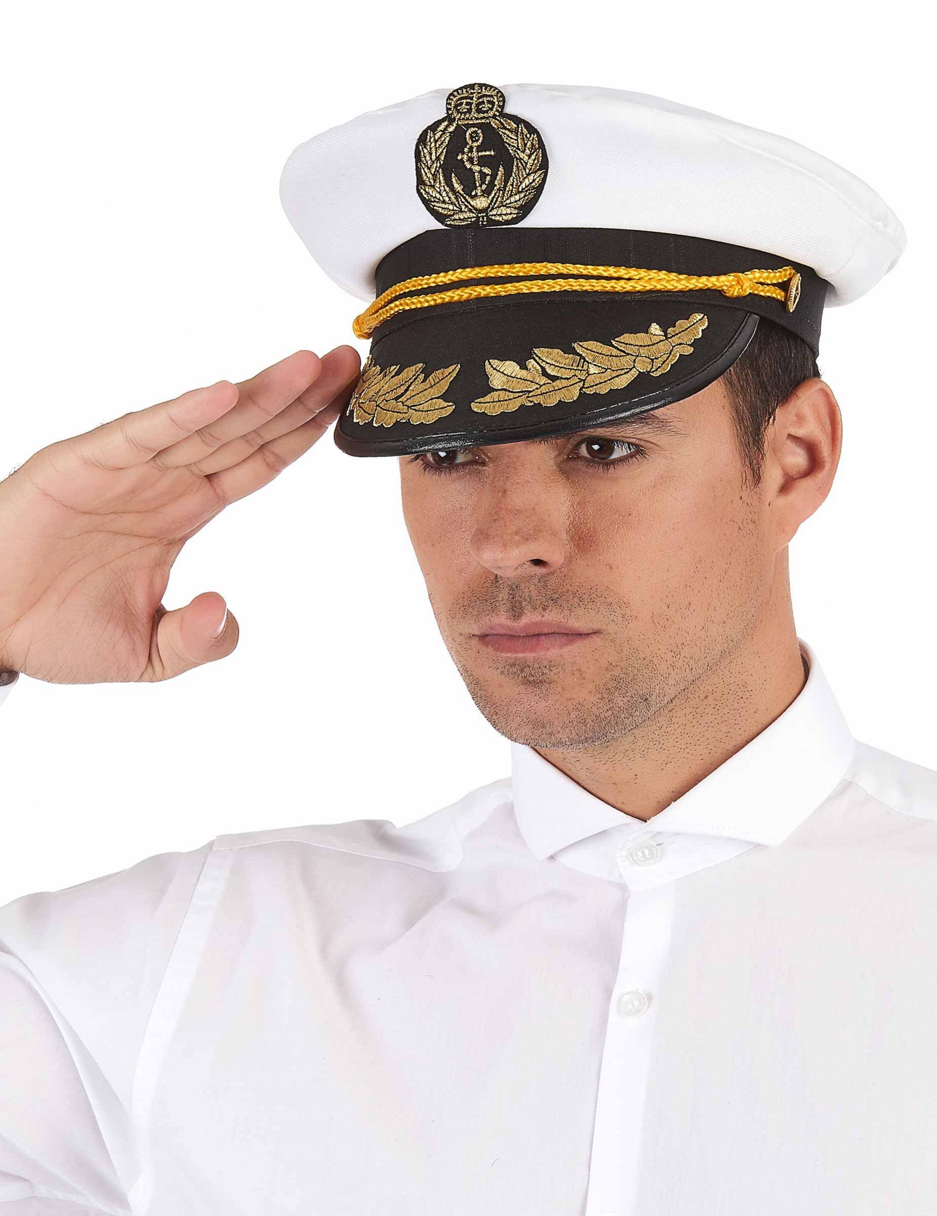6e7b014676e Cappello da capitano della marina per adulto: Cappelli,e vestiti di ...