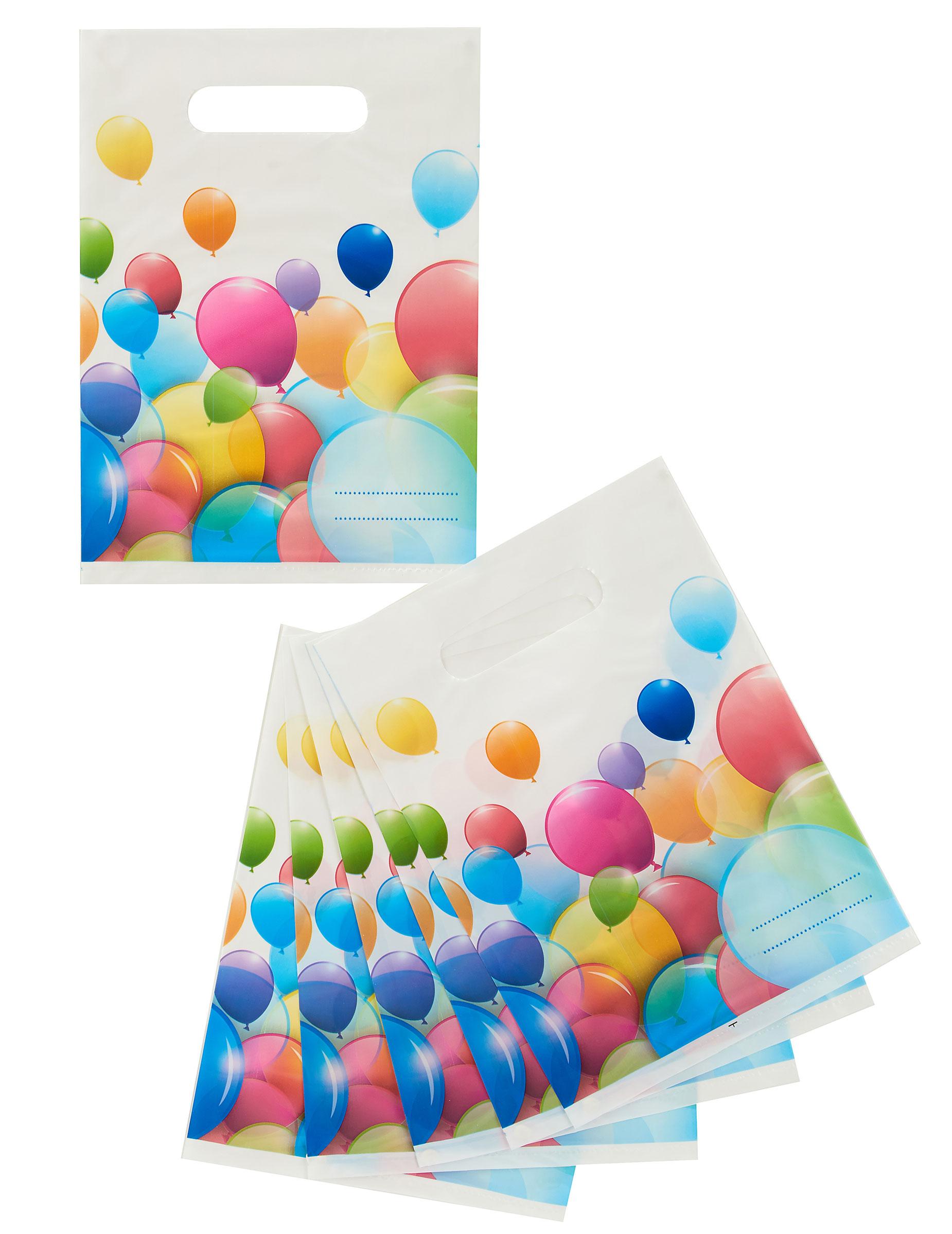 Super 6 Sacchetti per caramelle Palloncini colorati OL47