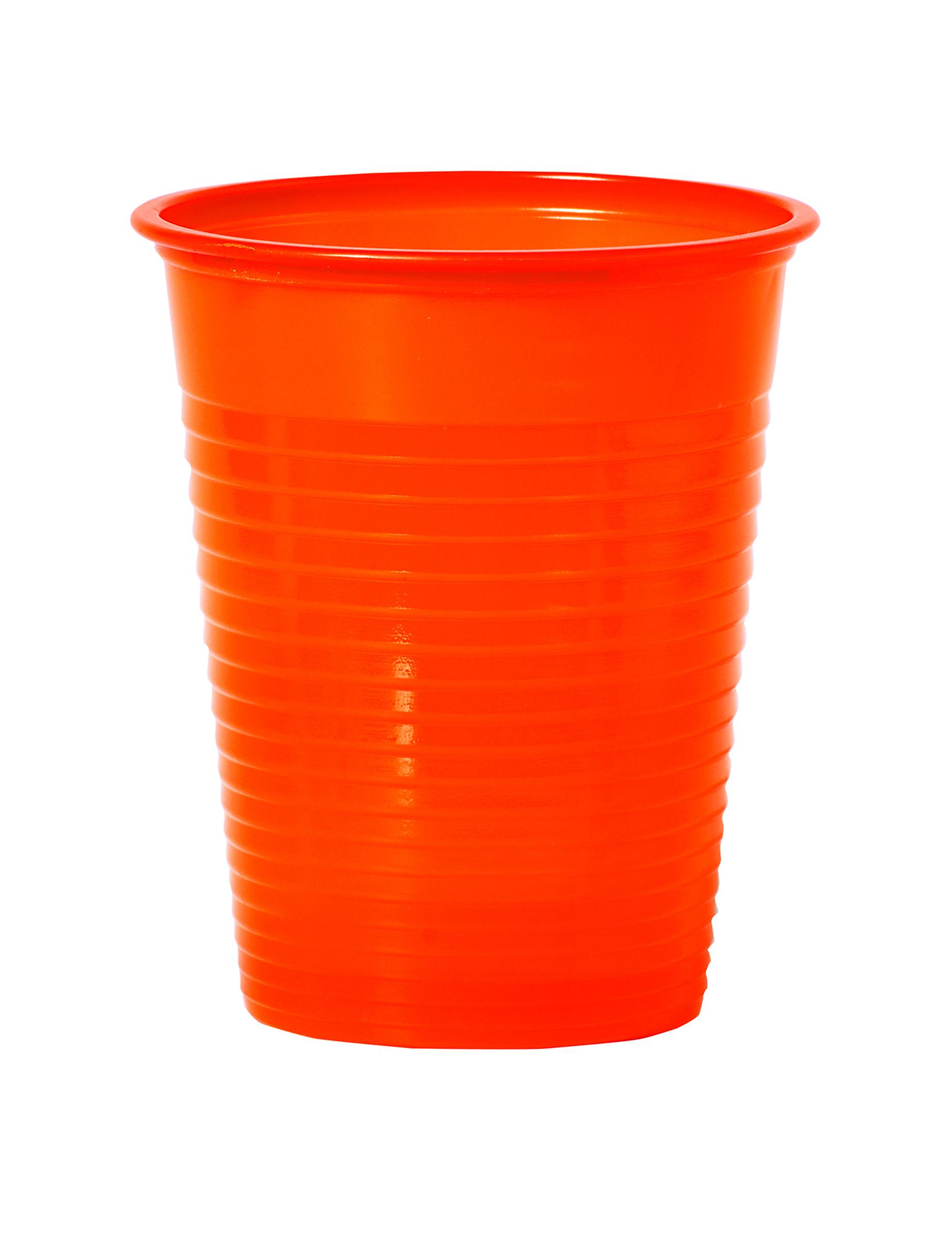 50 bicchieri di plastica arancioni addobbi e vestiti di for Addobbi natalizi con bicchieri di plastica