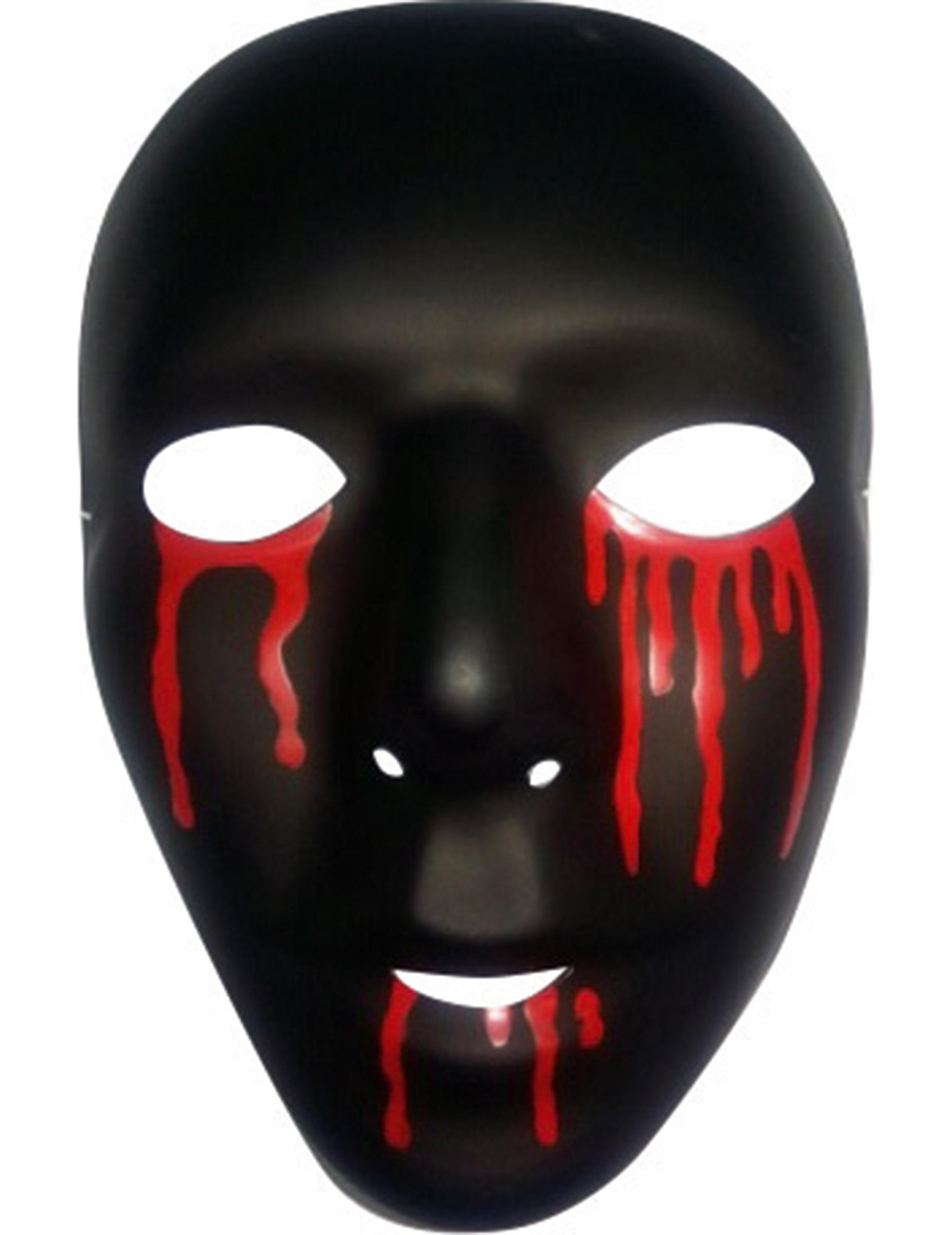Halloween Maschere.Maschera Nera Con Lacrime Di Sangue Halloween