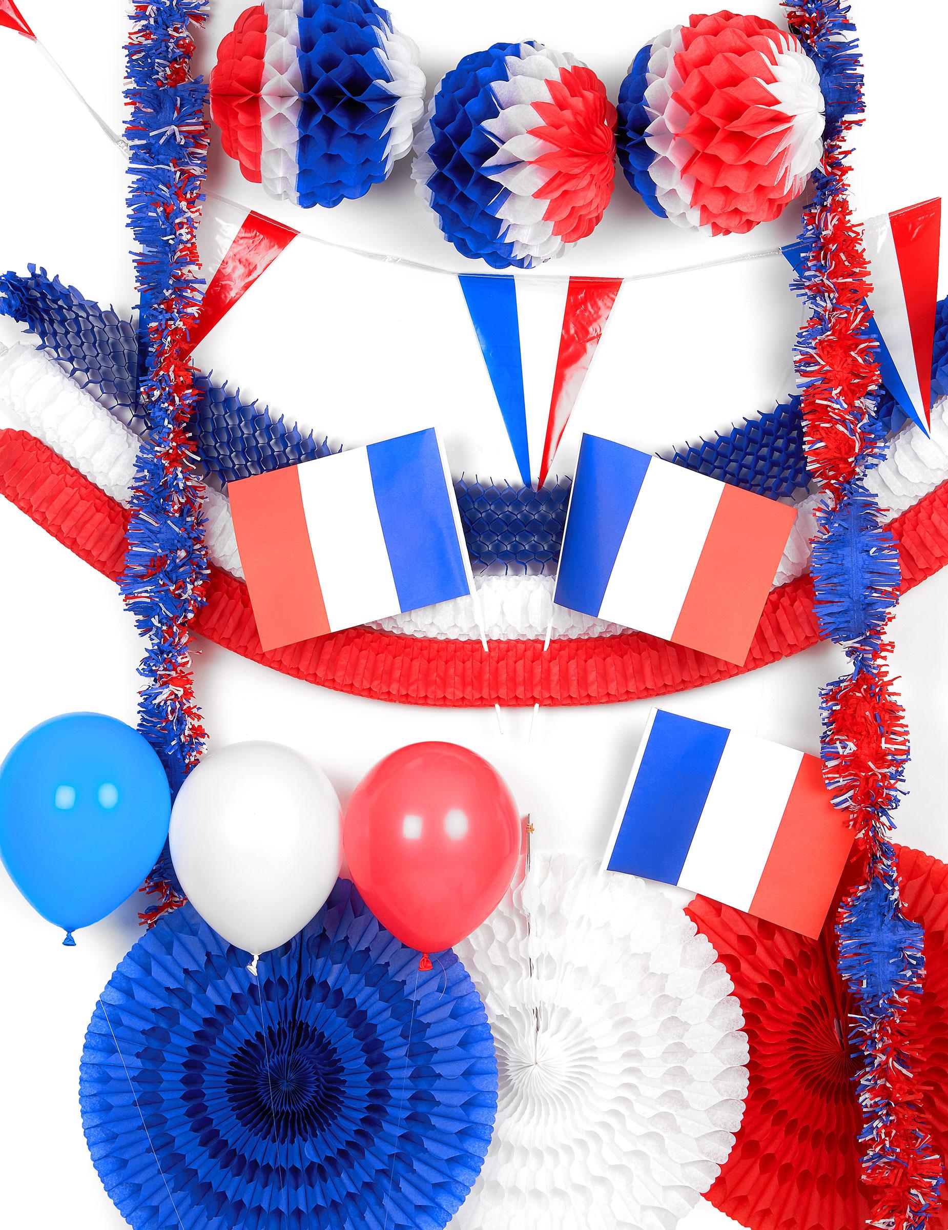 Kit decorativo bianco rosso e blu francia for Decoration en france