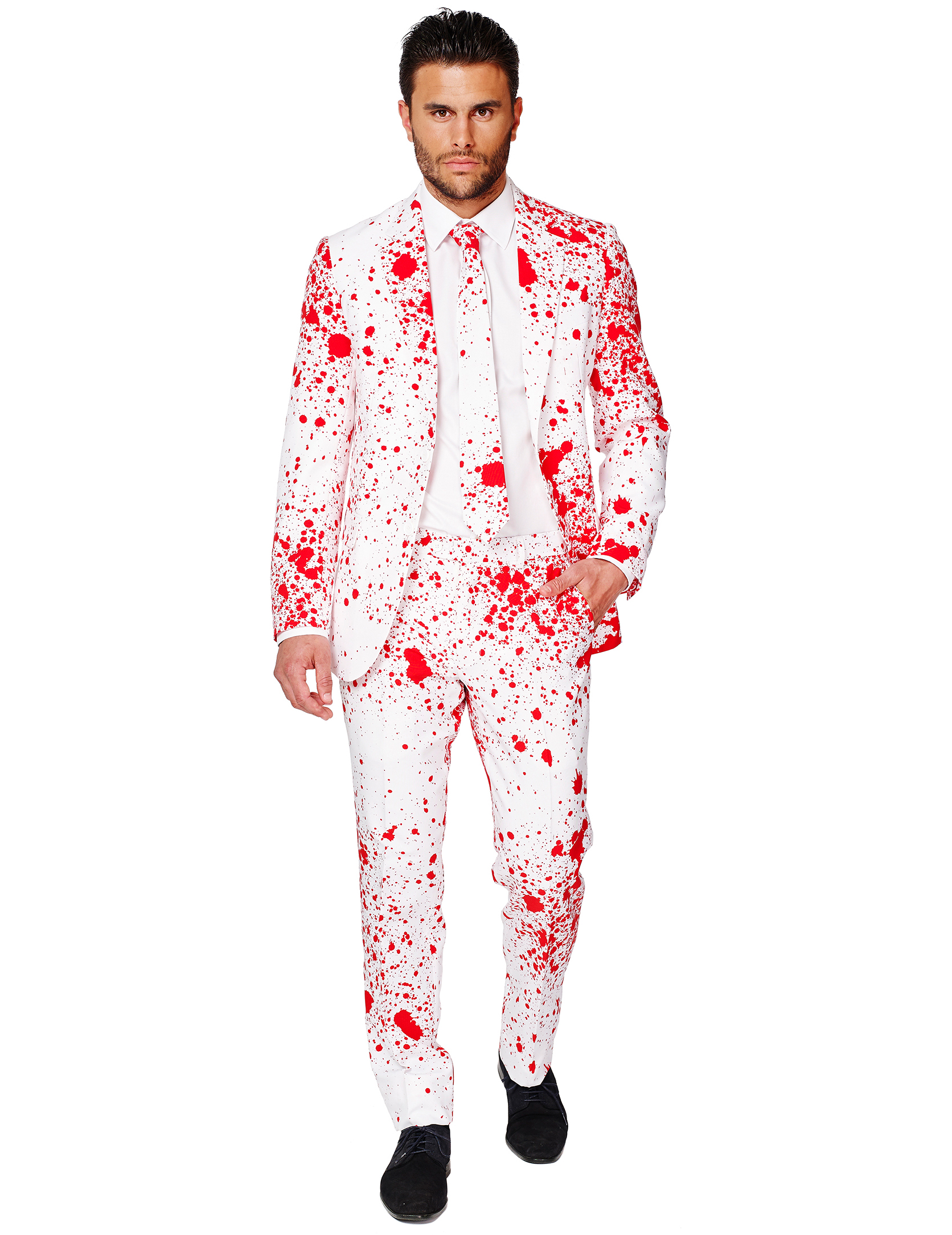 costume halloween bianco insanguinato uomo opposuits. Black Bedroom Furniture Sets. Home Design Ideas