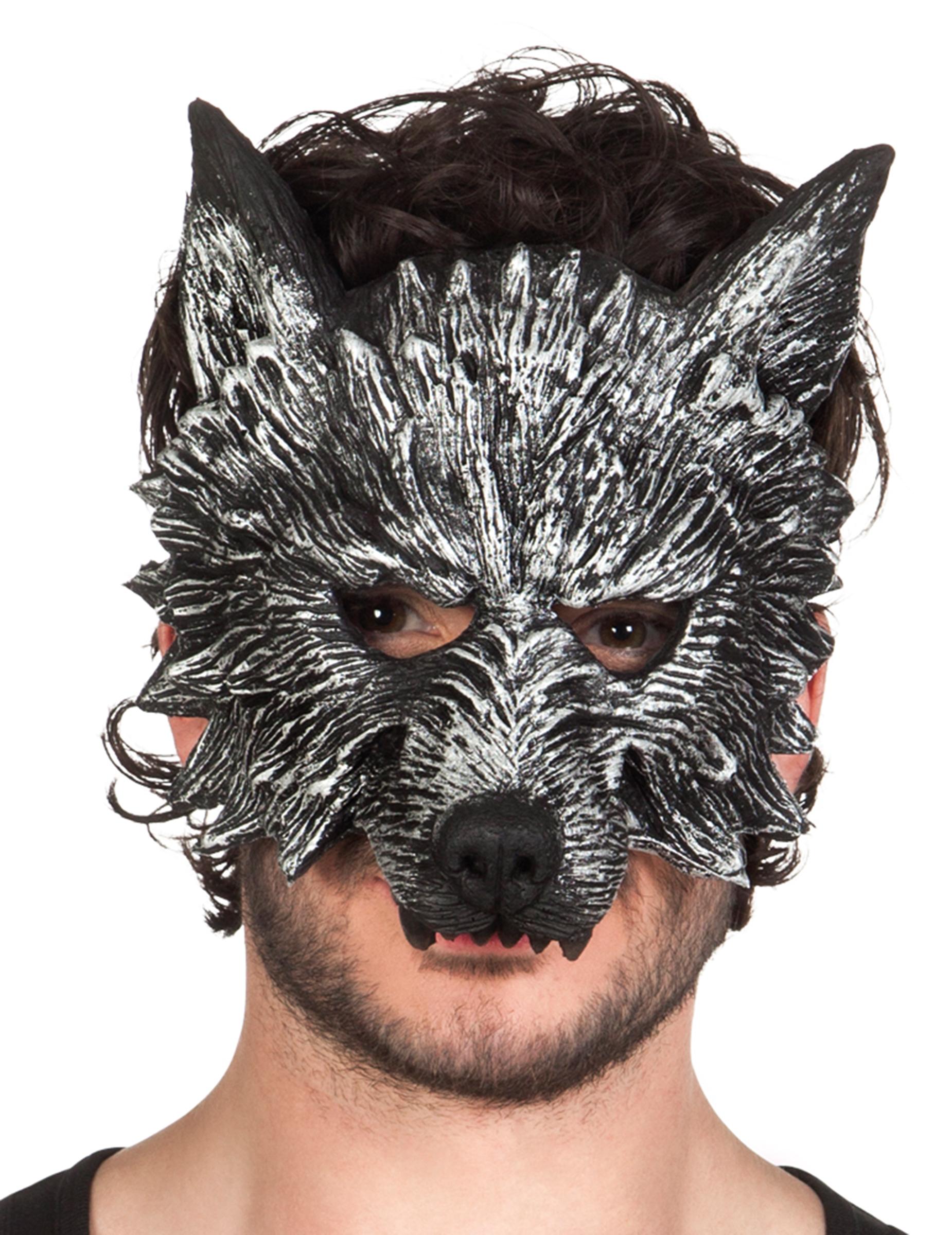 Maschera da lupo mannaro adulto halloween maschere e - Lupo mannaro immagini da colorare ...