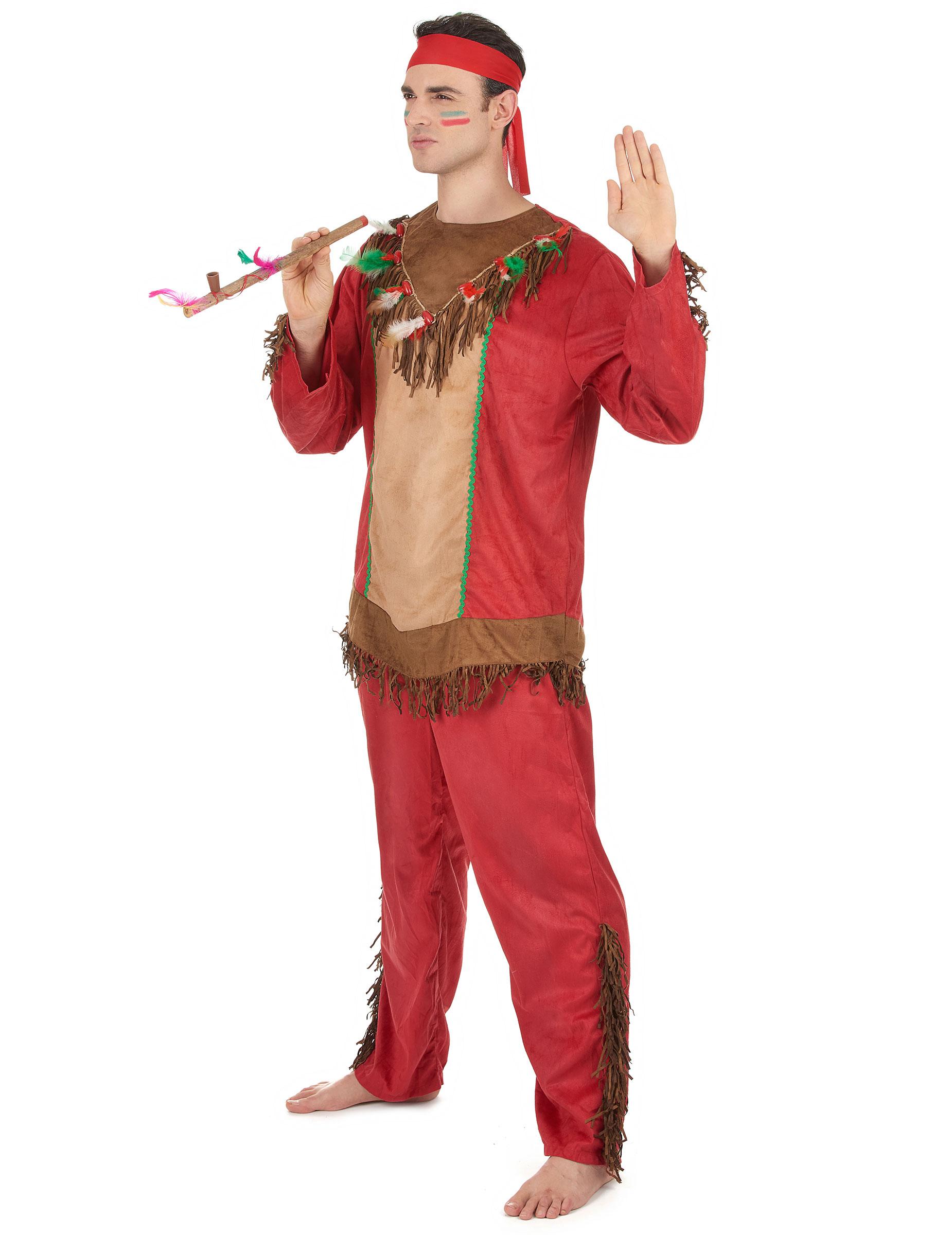coppia coppia vestiti Costumi rosso e di Costumi indiani adulto PXTSxTqd 25cbd47ee0c