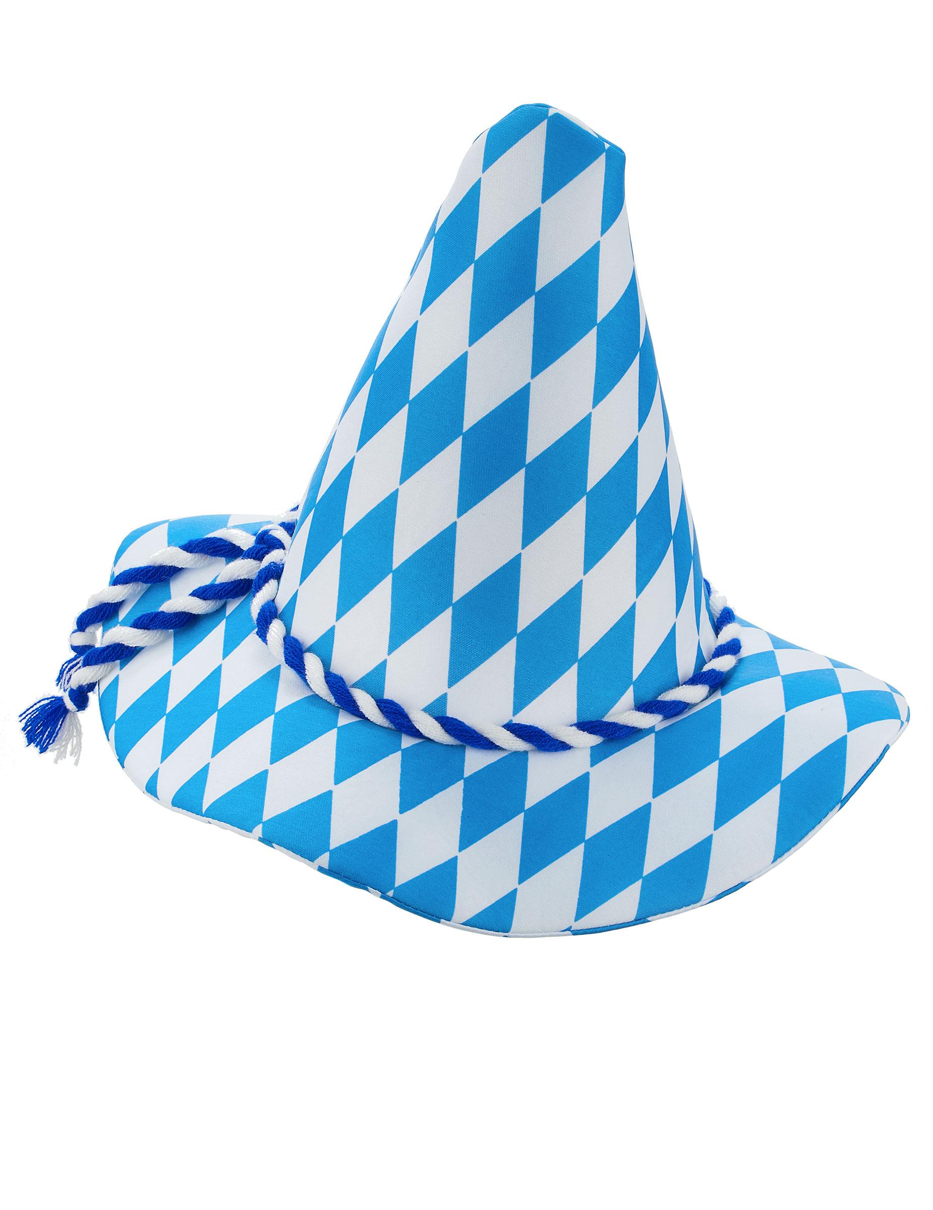Cappello bavarese bianco e blu adulto  Cappelli 83b7e7c6cd10