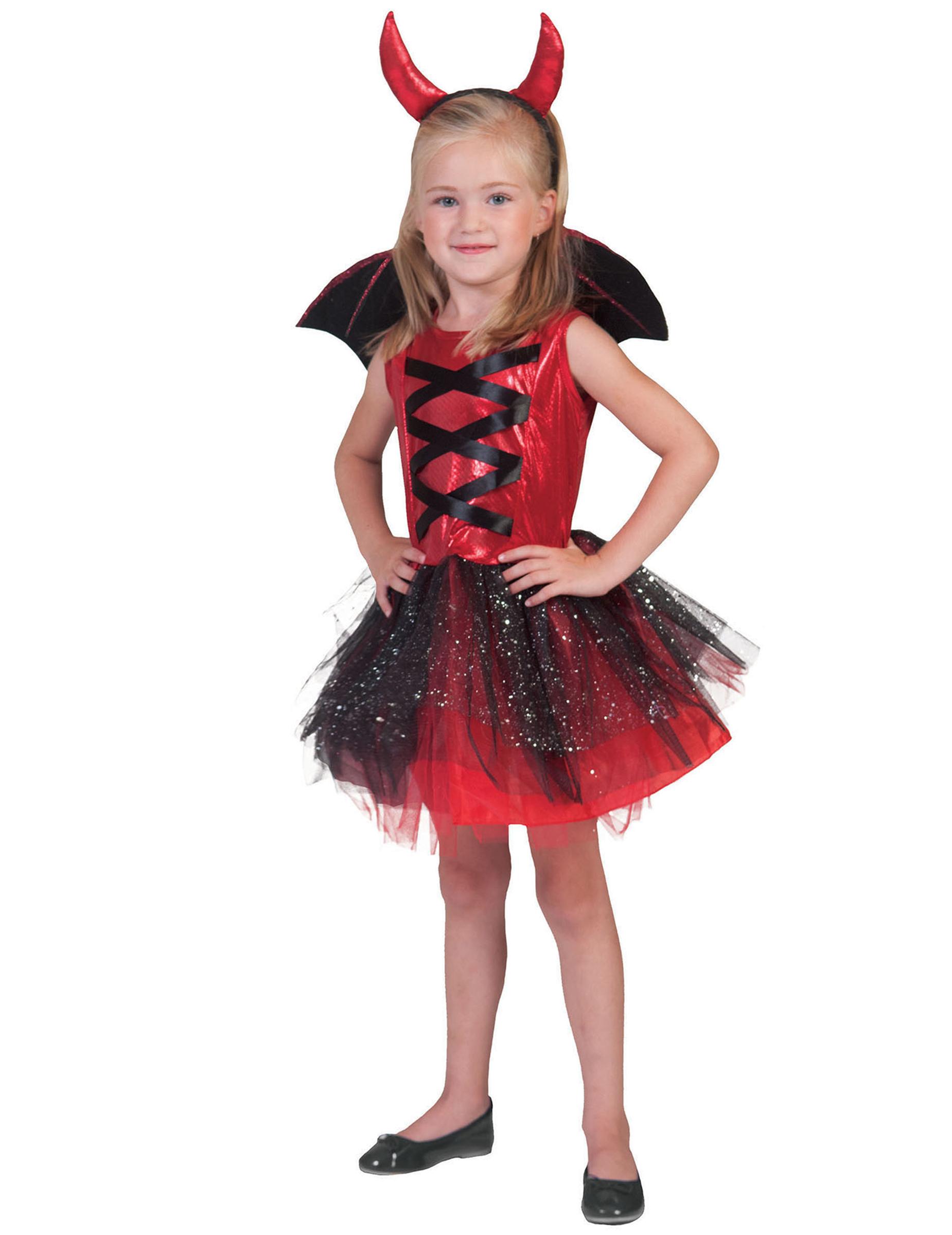 Costume da diavoletto con tutù per bimba - Halloween 57015ec07ea