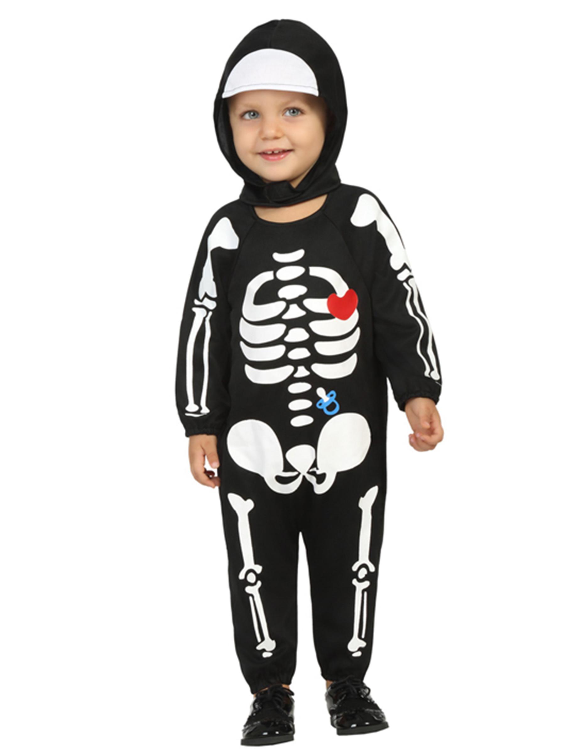 Costume da scheletro bambino per Halloween  Costumi bambini 9775321e0e5