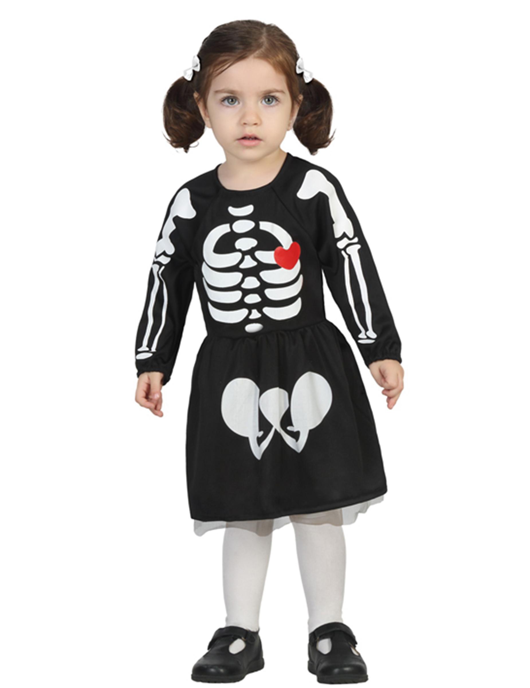Costume neonato scheletro bambina halloween costumi bambini e vestiti di carnevale online vegaoo - Costume neonato piscina ...