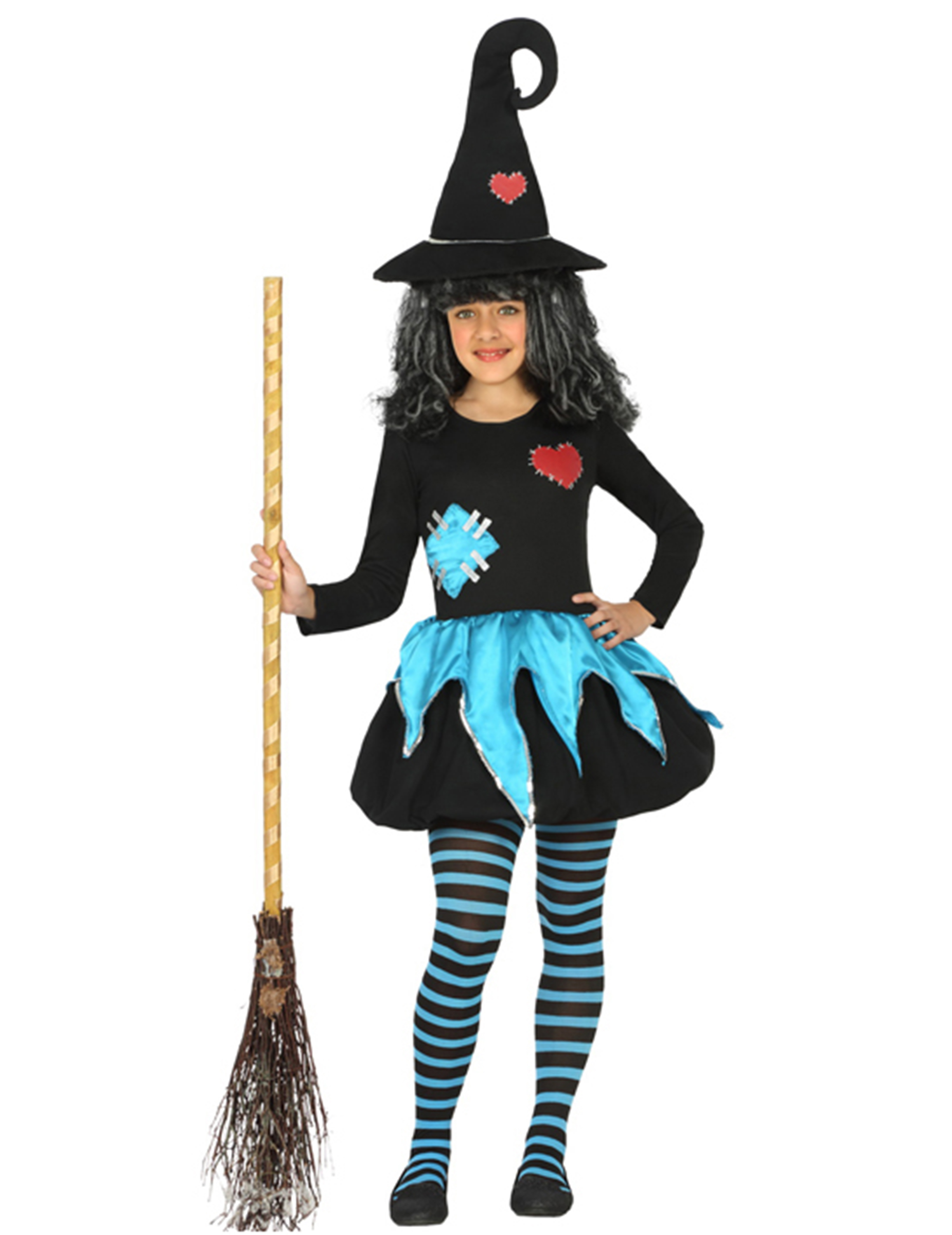 b6d13c5a32f3 Costume strega azzurrina bambina Halloween: Costumi bambini,e ...