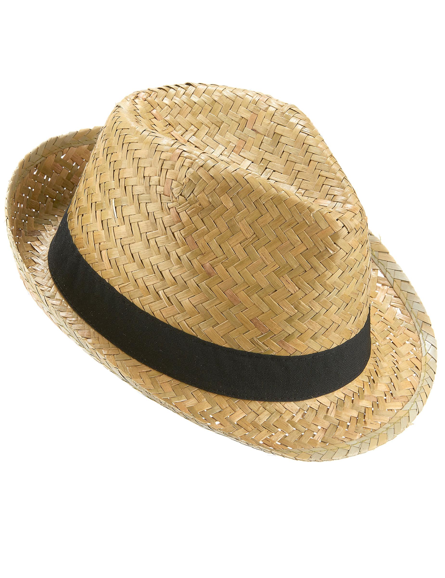 Cappello tipo borsalino paglia nature con fascia nera  Cappelli 913e5ade06b2