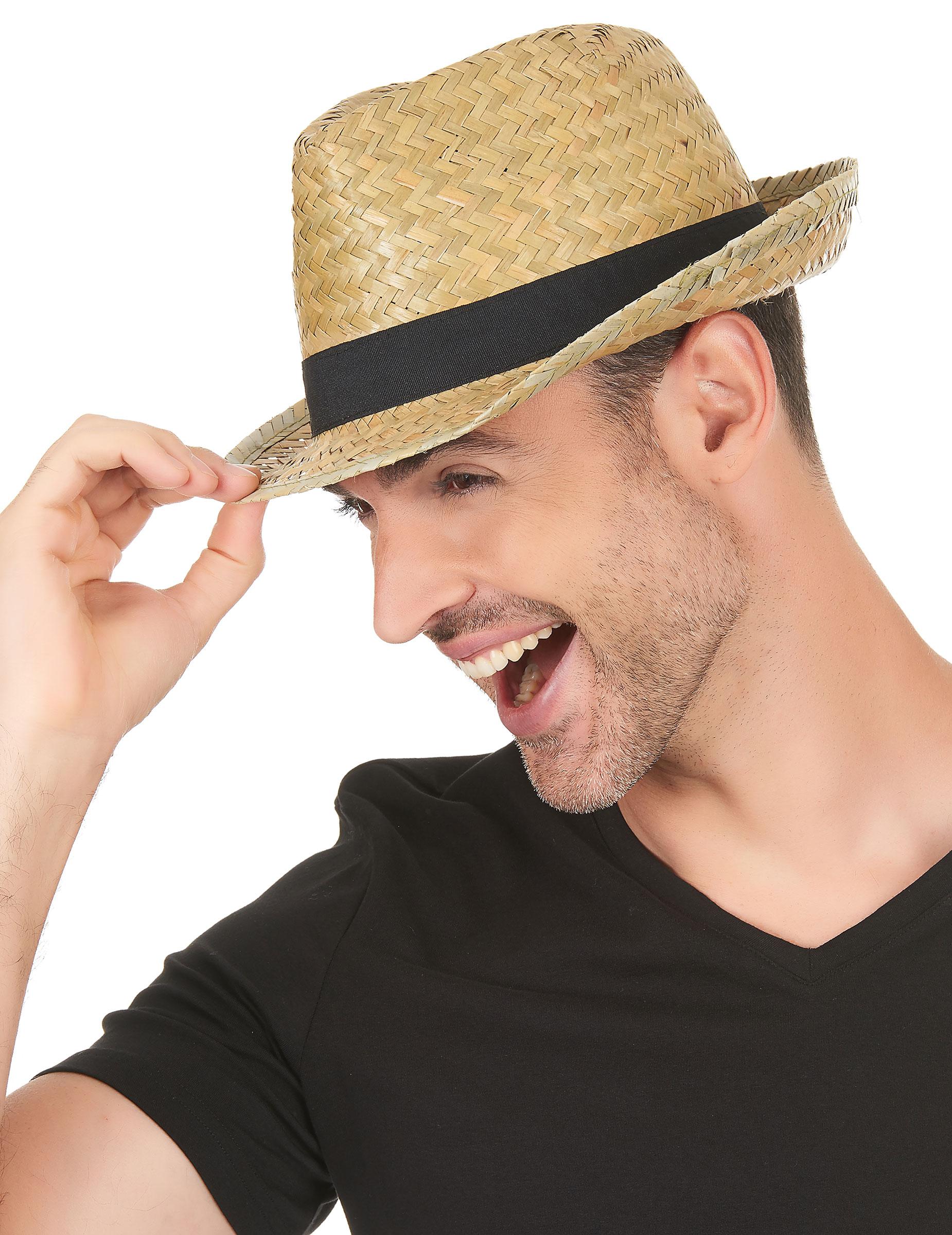 Cappello tipo borsalino paglia nature con fascia nera  Cappelli 66382e20ee7d