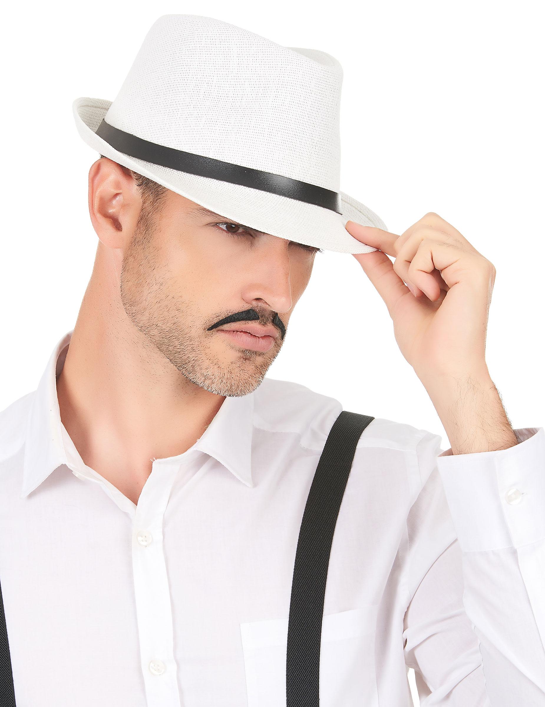 Cappello borsalino bianco adulto  Cappelli f6ddc25bd584
