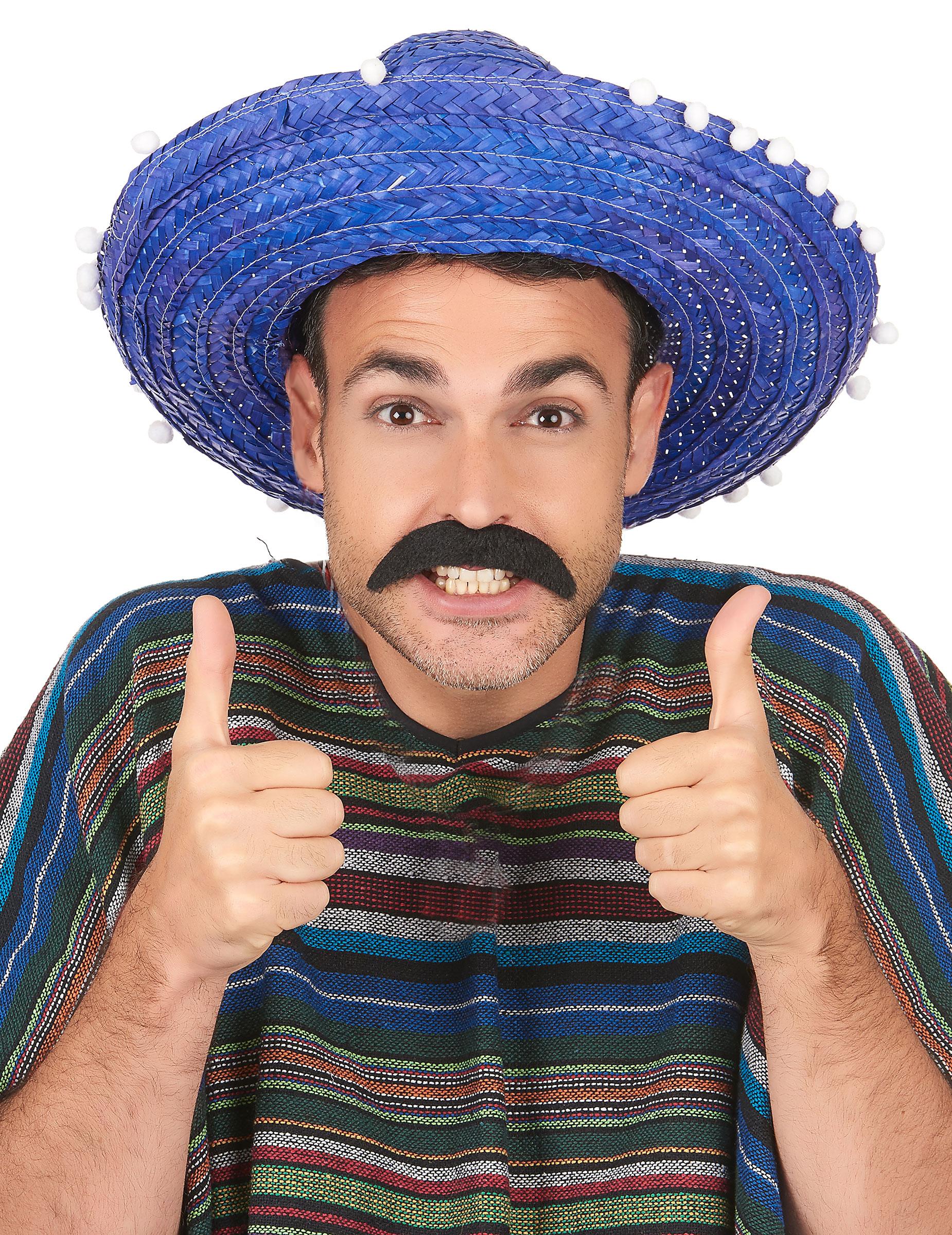 Sombrero messicano blu per adulto  Cappelli a31cfa2b98ff