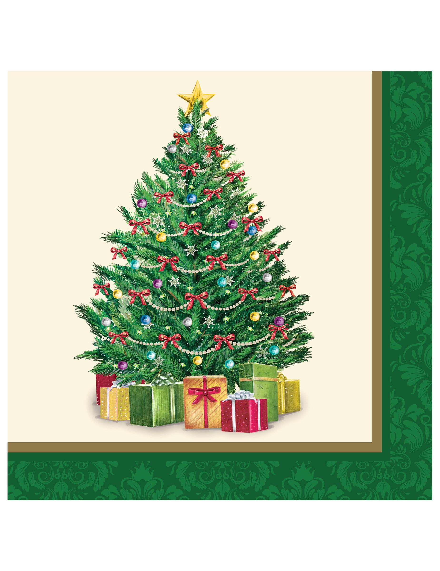 16 tovaglioli di carta abete di natale addobbi e vestiti di carnevale online vegaoo - Tovaglioli di carta decorati ...