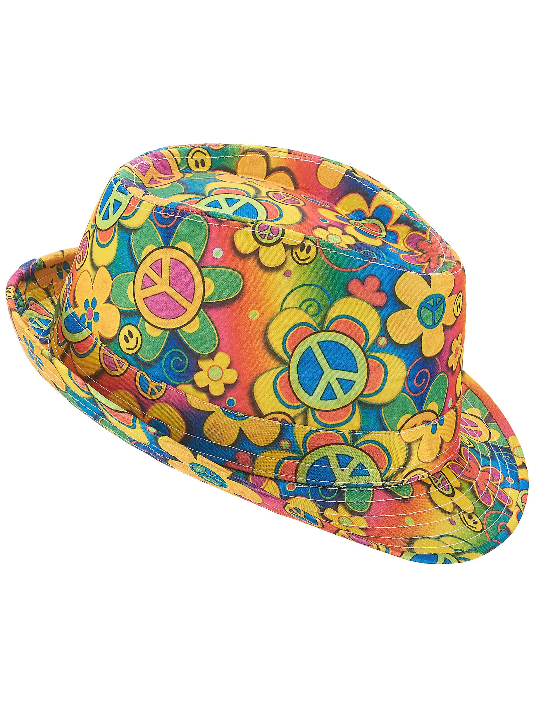 Cappello borsalino hippie a fiori adulto cappelli e for Fleurs online