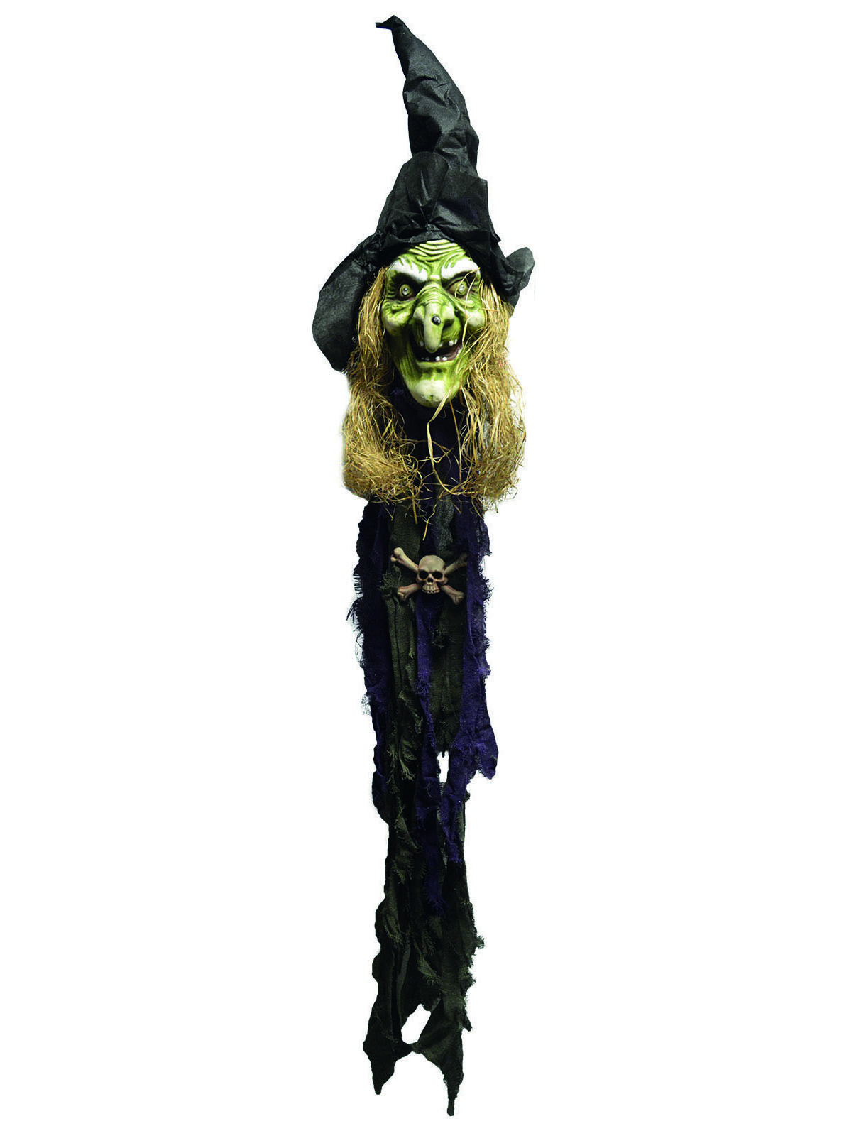 Decorazione Di Halloween Testa Di Strega Verde Addobbi E