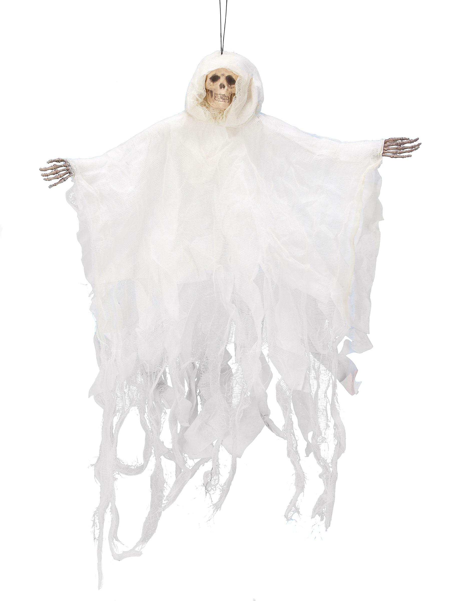 Decorazione di Halloween: scheletro bianco da appendere- Vegaoo.it