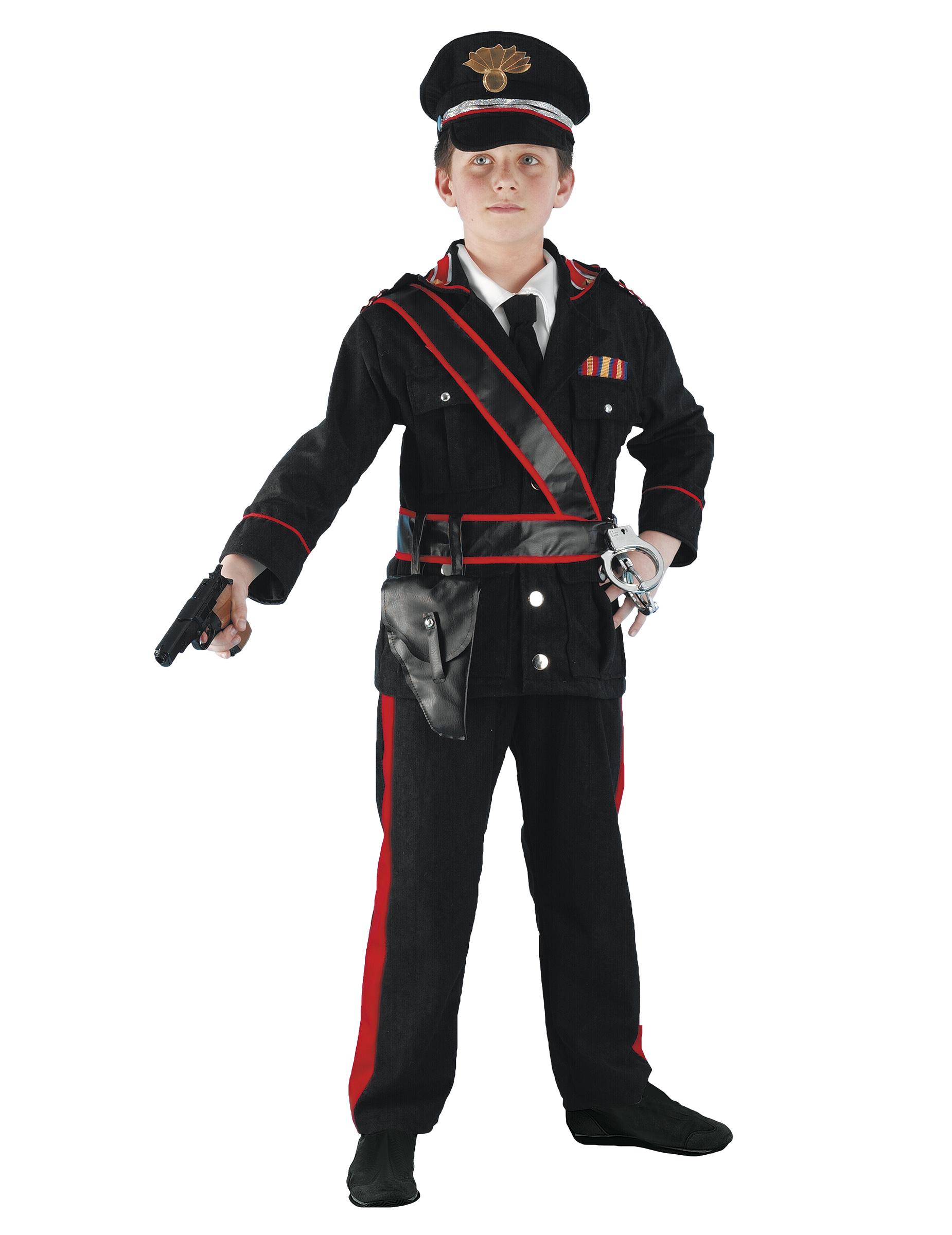 Vestito Carabiniere Bambino.Costume Da Carabiniere Per Bambino Costumi Bambini E Vestiti Di Carnevale Online Vegaoo
