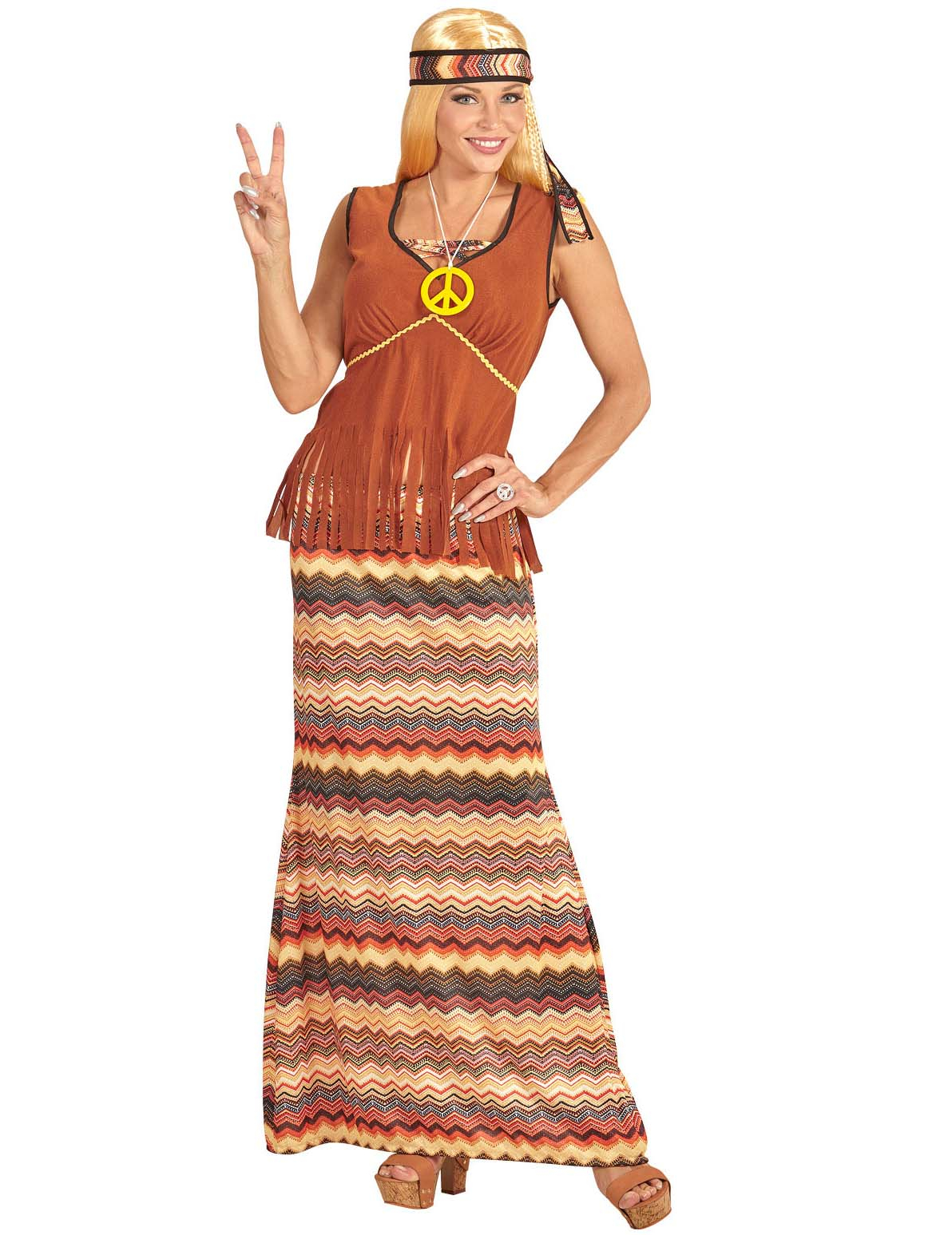 official photos 32776 32483 Costume vestito lungo hippie donna