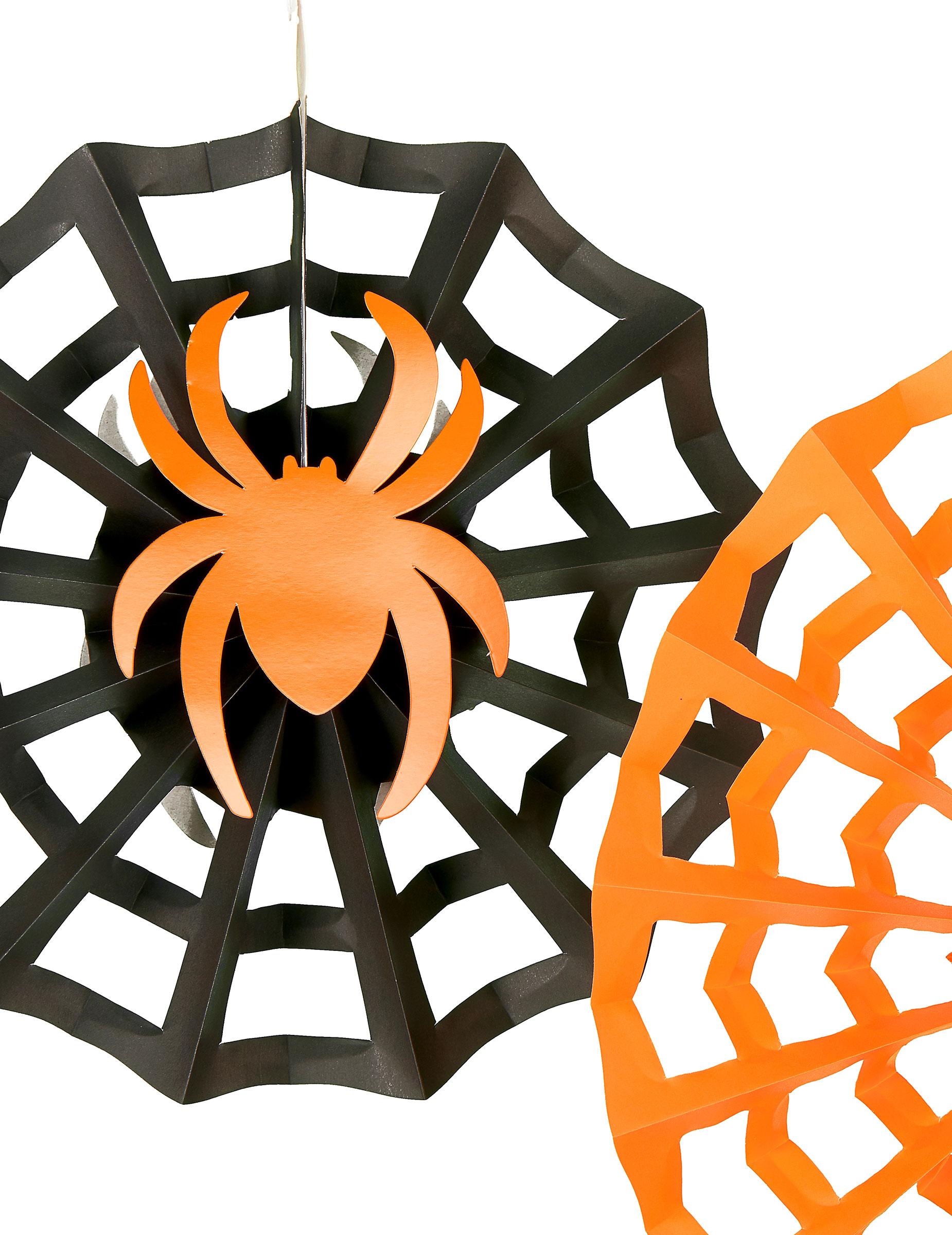 3 decorazioni da appendere ragni Halloween  Addobbi 977a21698f7f