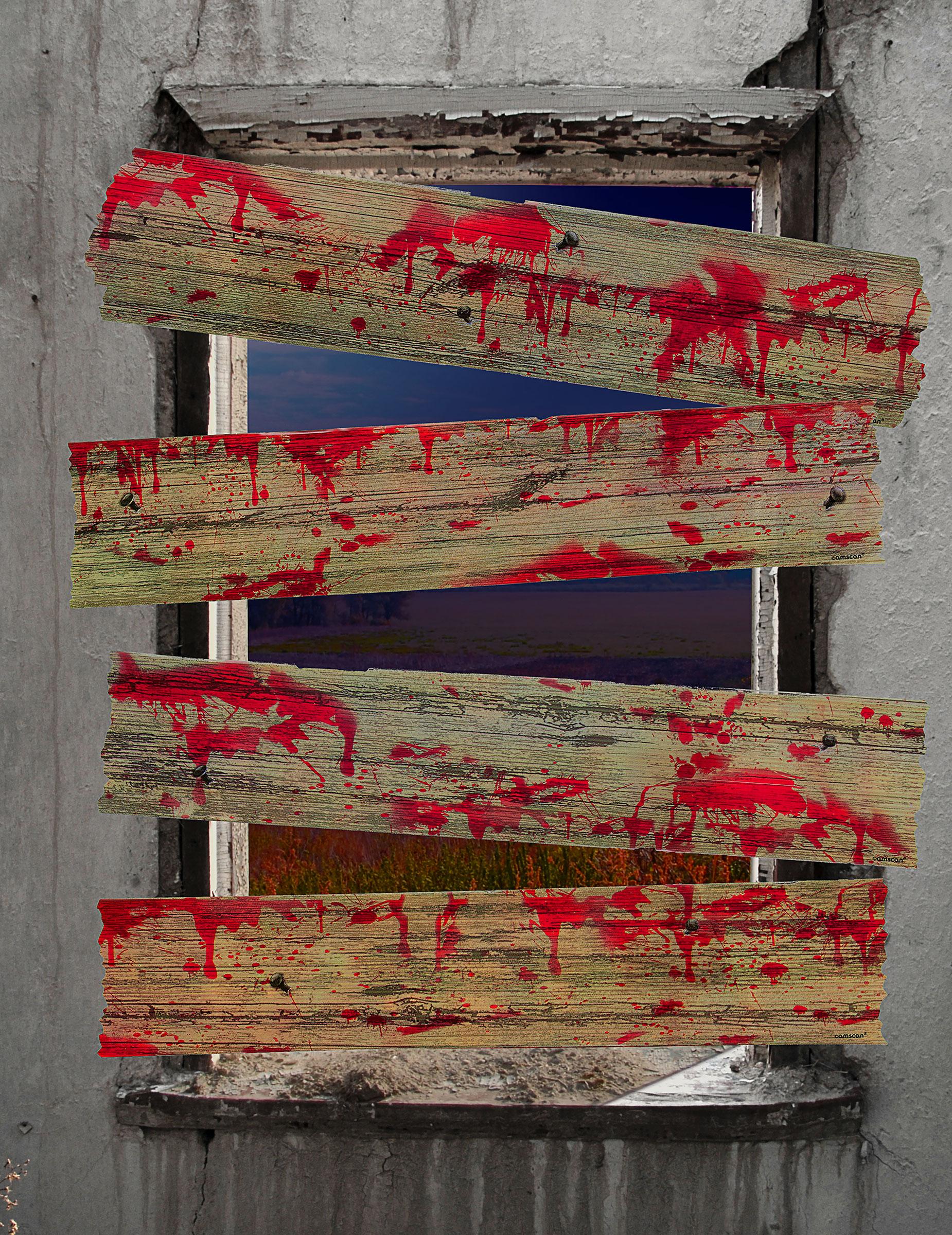 Decorazione barriere per finestre epidemia zimbie addobbi for Decorazione finestre