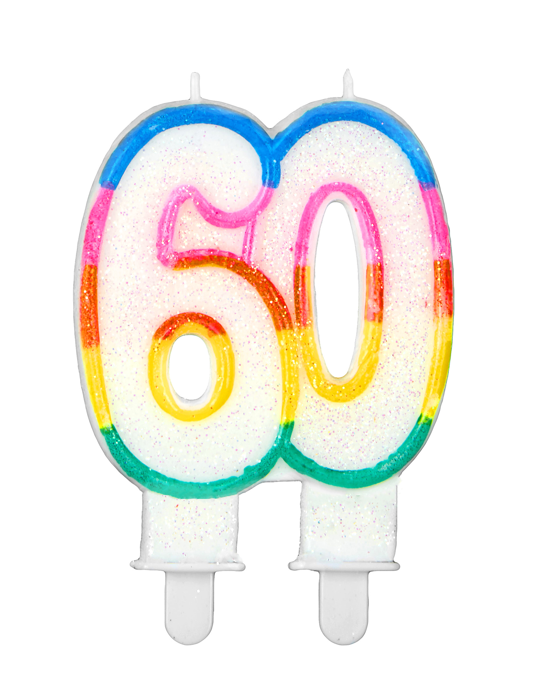 abbastanza Candelina arcobaleno per compleanno 60 anni: Addobbi,e vestiti di  CI44