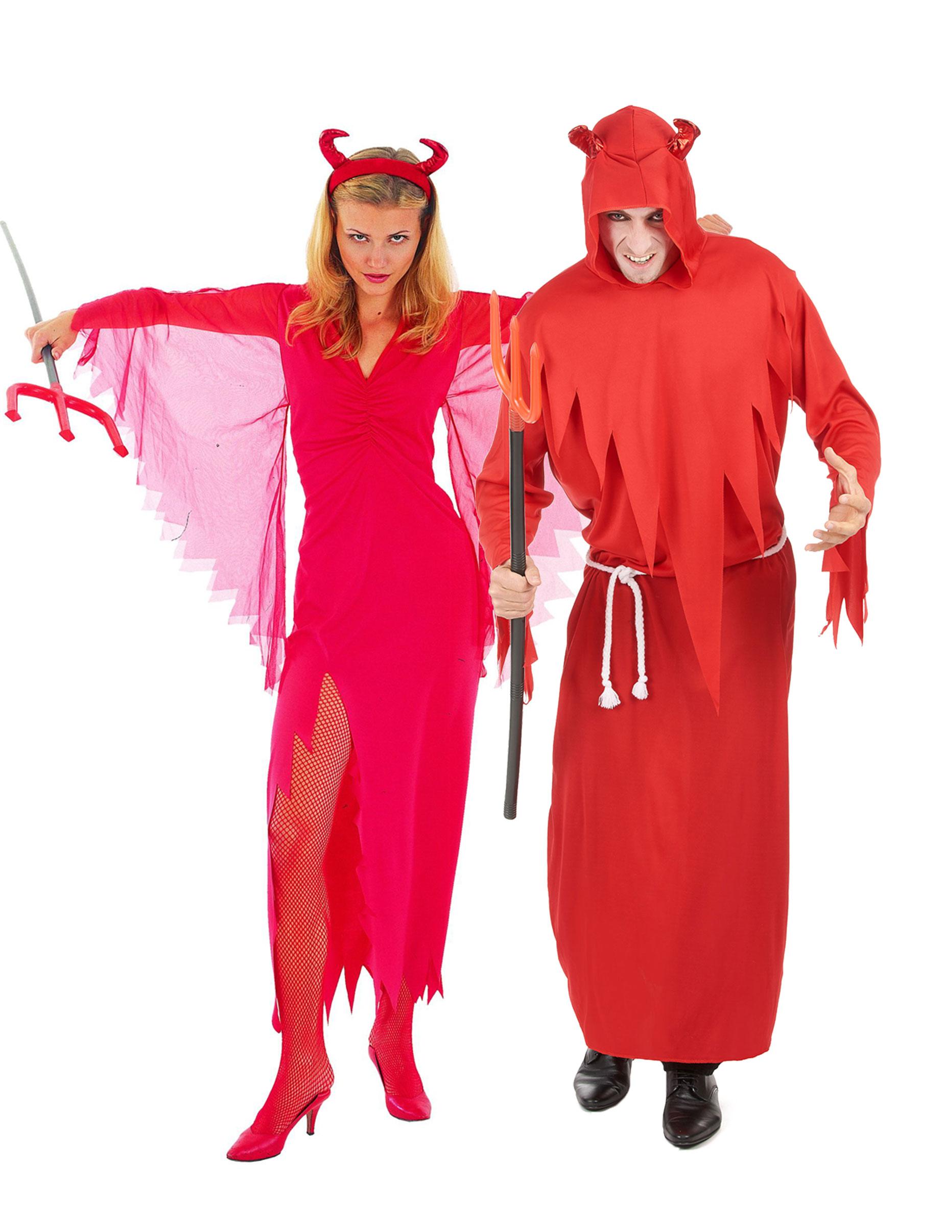 Coppia di diavoli rossi Halloween  Costumi coppia abab59ba6cad