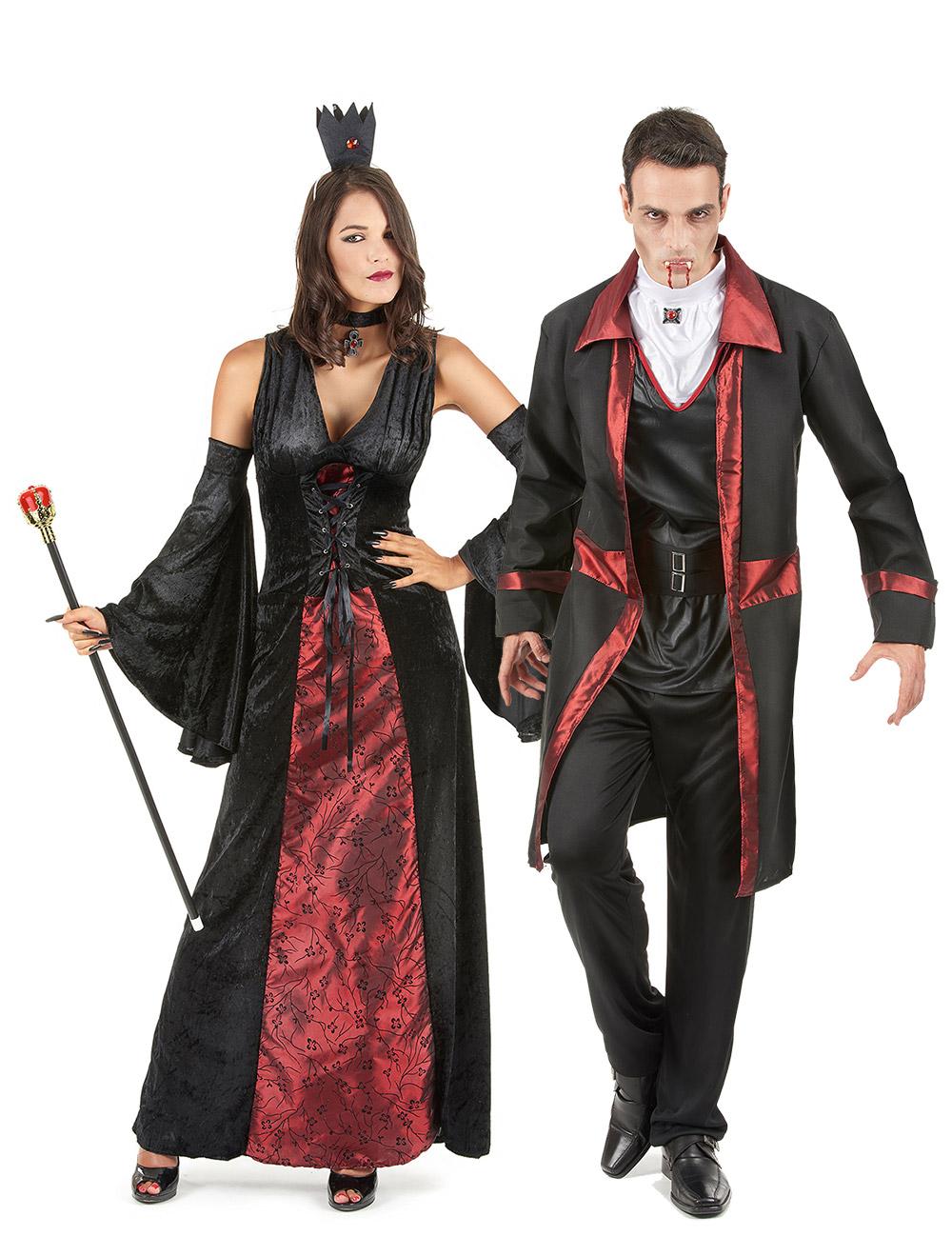 costume coppia di vampiri rosso e nero halloween costumi coppia e vestiti di carnevale online. Black Bedroom Furniture Sets. Home Design Ideas