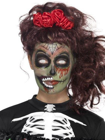Kit trucco zombie donna Dia de Los Muertos  Trucco b941593d6c4