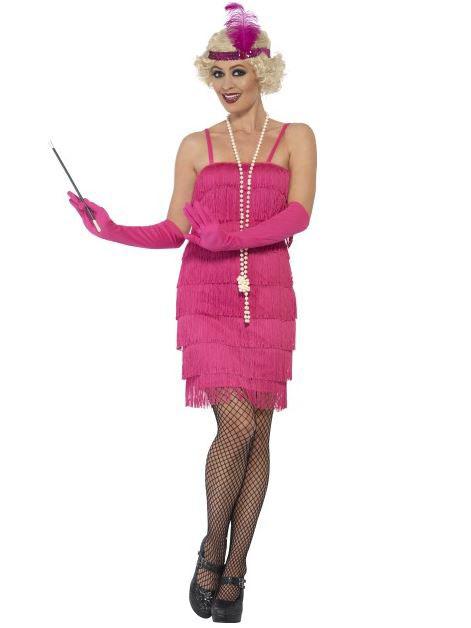 4d5b4cce2134 Costume Charleston rosa fucsia Donna  Costumi adulti
