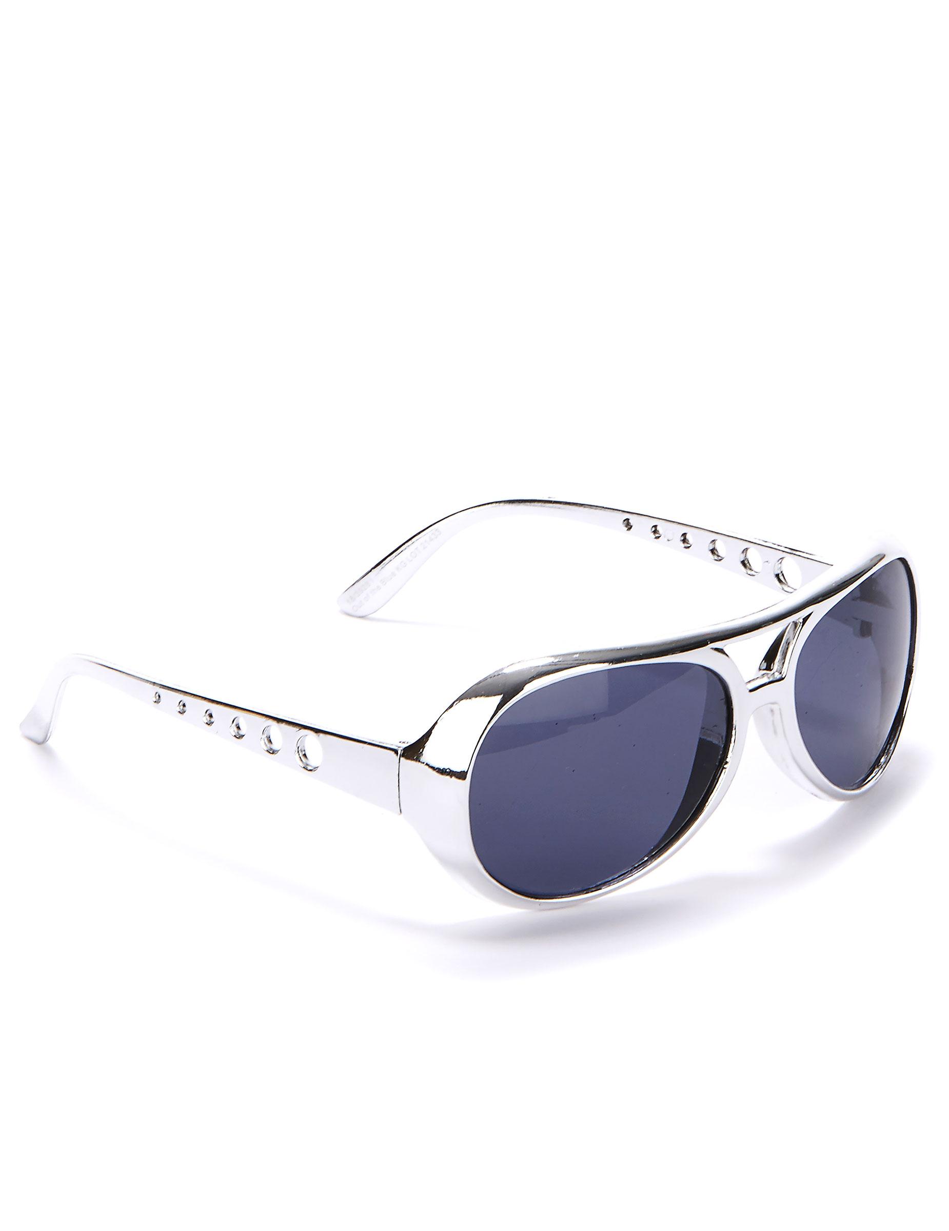 Occhiali argentati con lenti blu accessori e vestiti di carnevale online vegaoo - Occhiali lenti blu specchio ...
