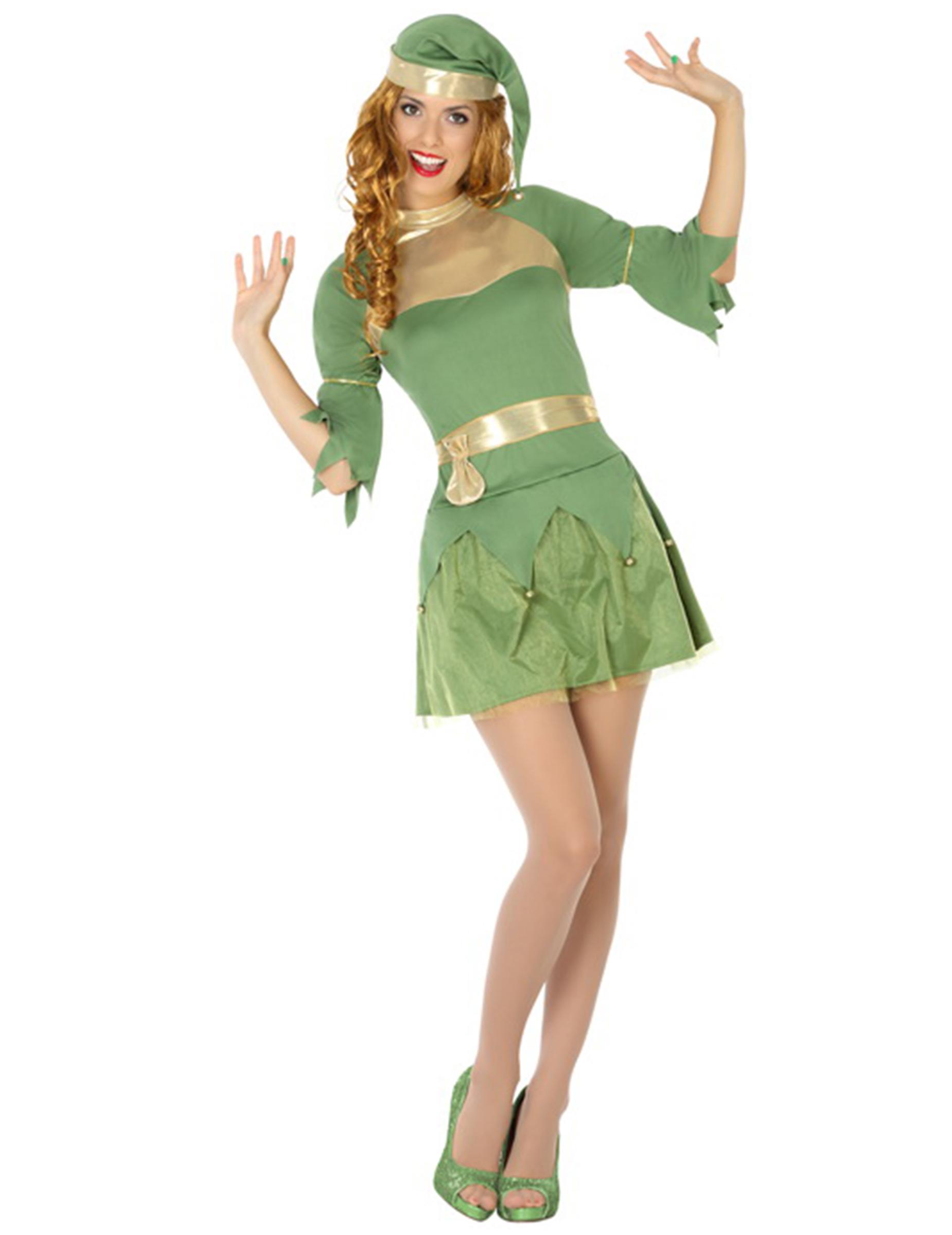 Costume elfo verde donna Natale 54cbca23a44a
